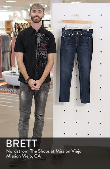 JEAN Raw Hem Ankle Skinny Jeans, sales video thumbnail