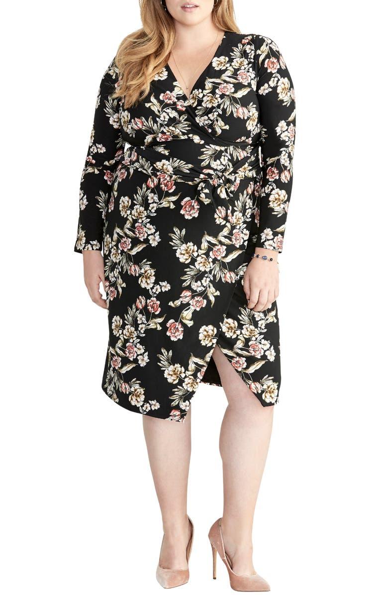 Rachel Rachel Roy Dresses FLORAL FAUX WRAP DRESS