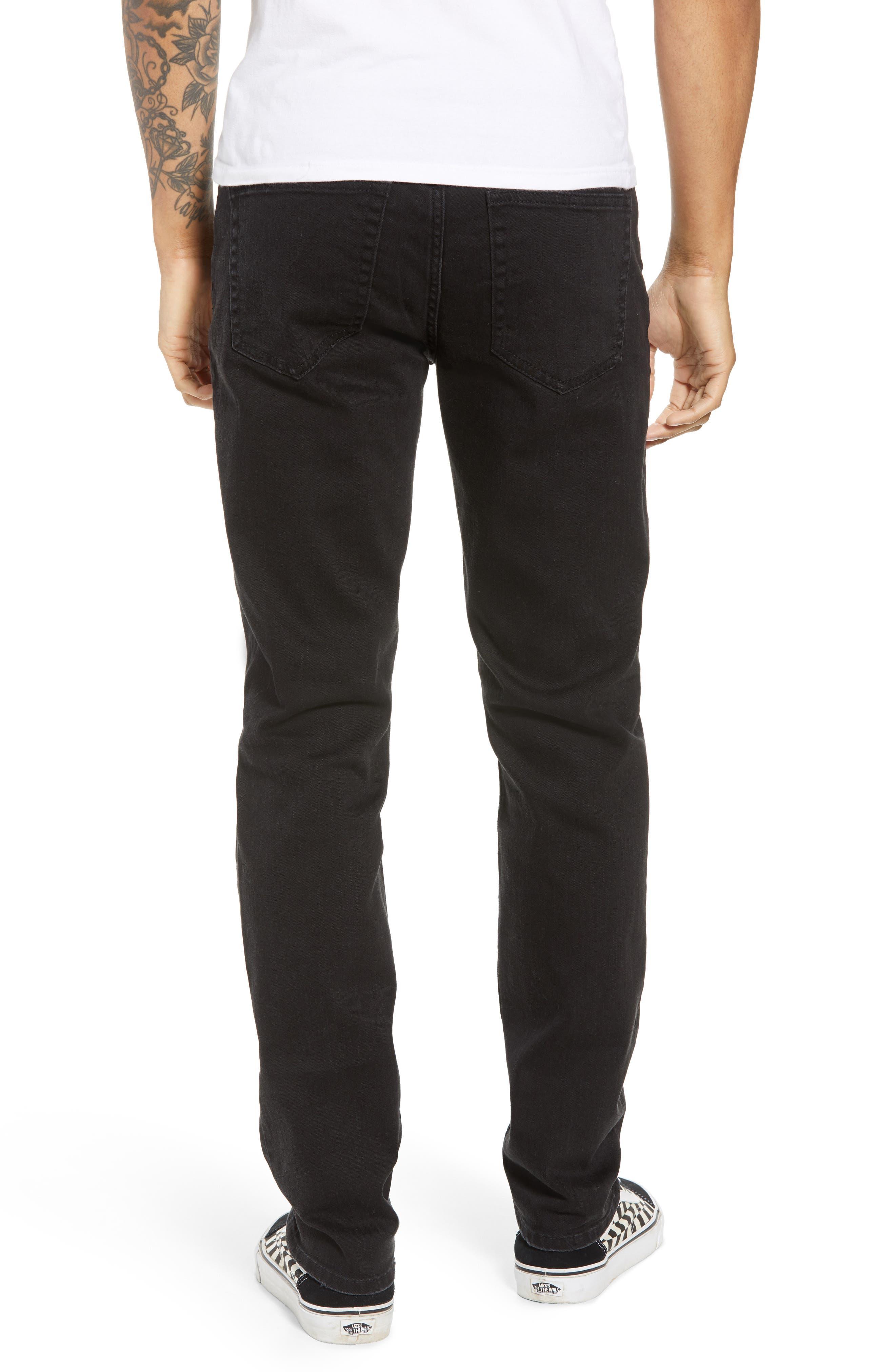 THE RAIL, Ripped Skinny Jeans, Alternate thumbnail 2, color, BLACK STONE WASH