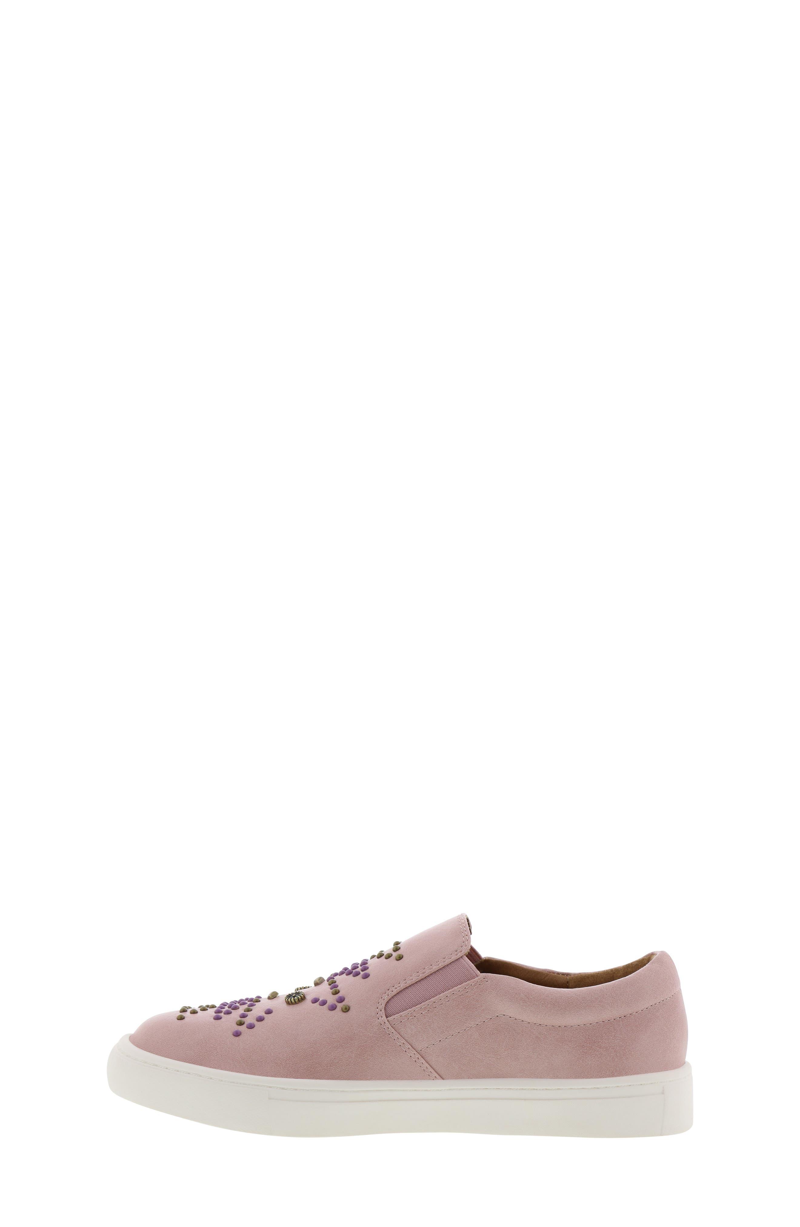 FRYE, Lena Studded Sneaker, Alternate thumbnail 8, color, 686