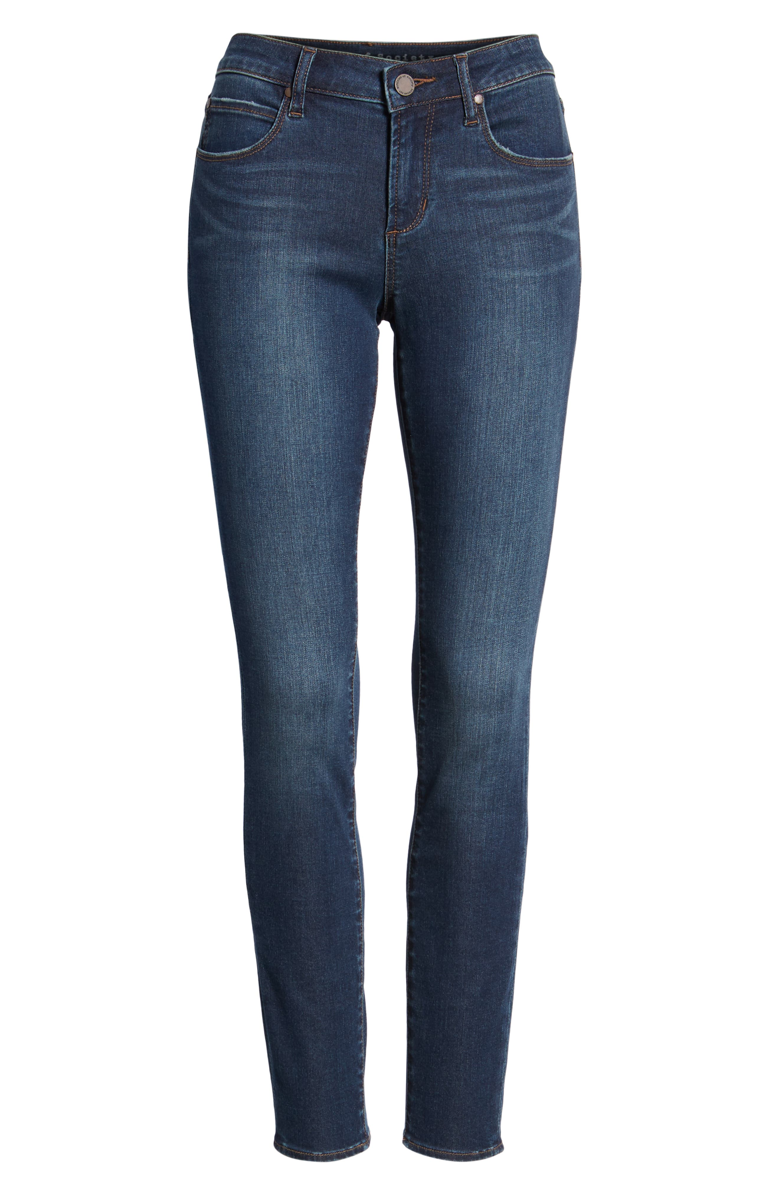 ARTICLES OF SOCIETY, Sarah Skinny Jeans, Alternate thumbnail 7, color, 400