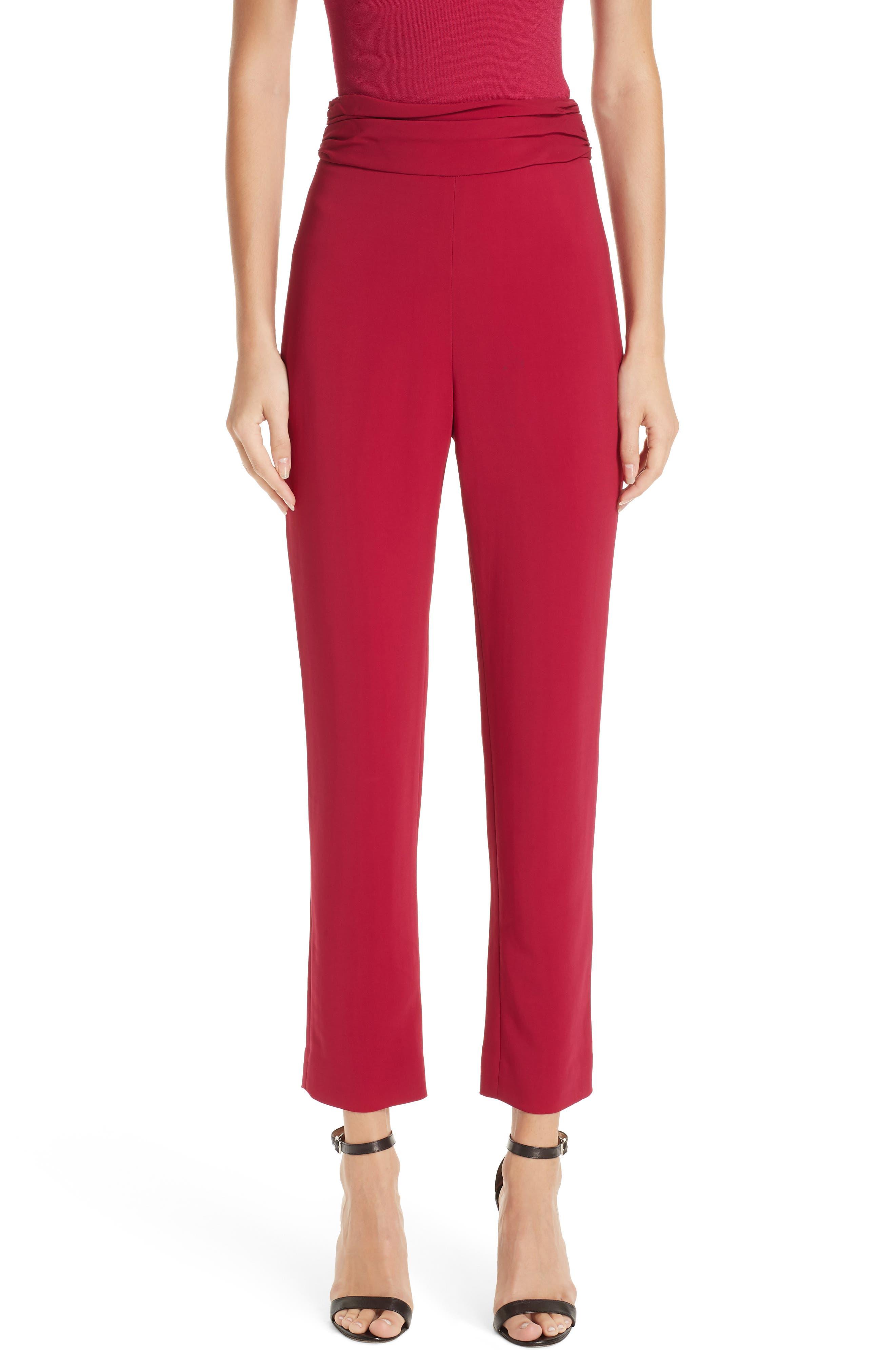 CUSHNIE High Waist Pants, Main, color, CAMELLIA