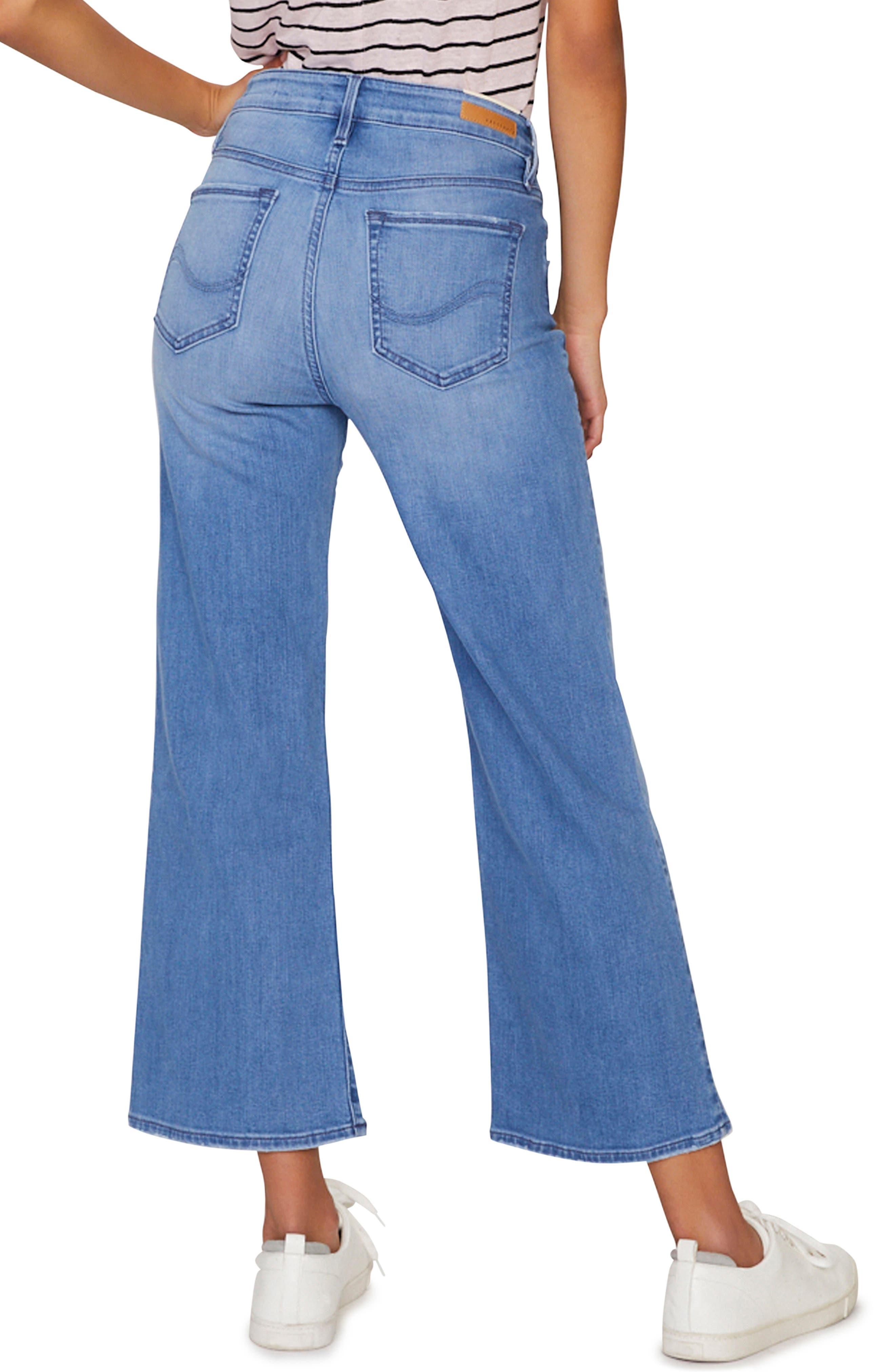 SANCTUARY, Non Comformist Wide Leg Crop Jeans, Alternate thumbnail 2, color, SOLANO BLUE
