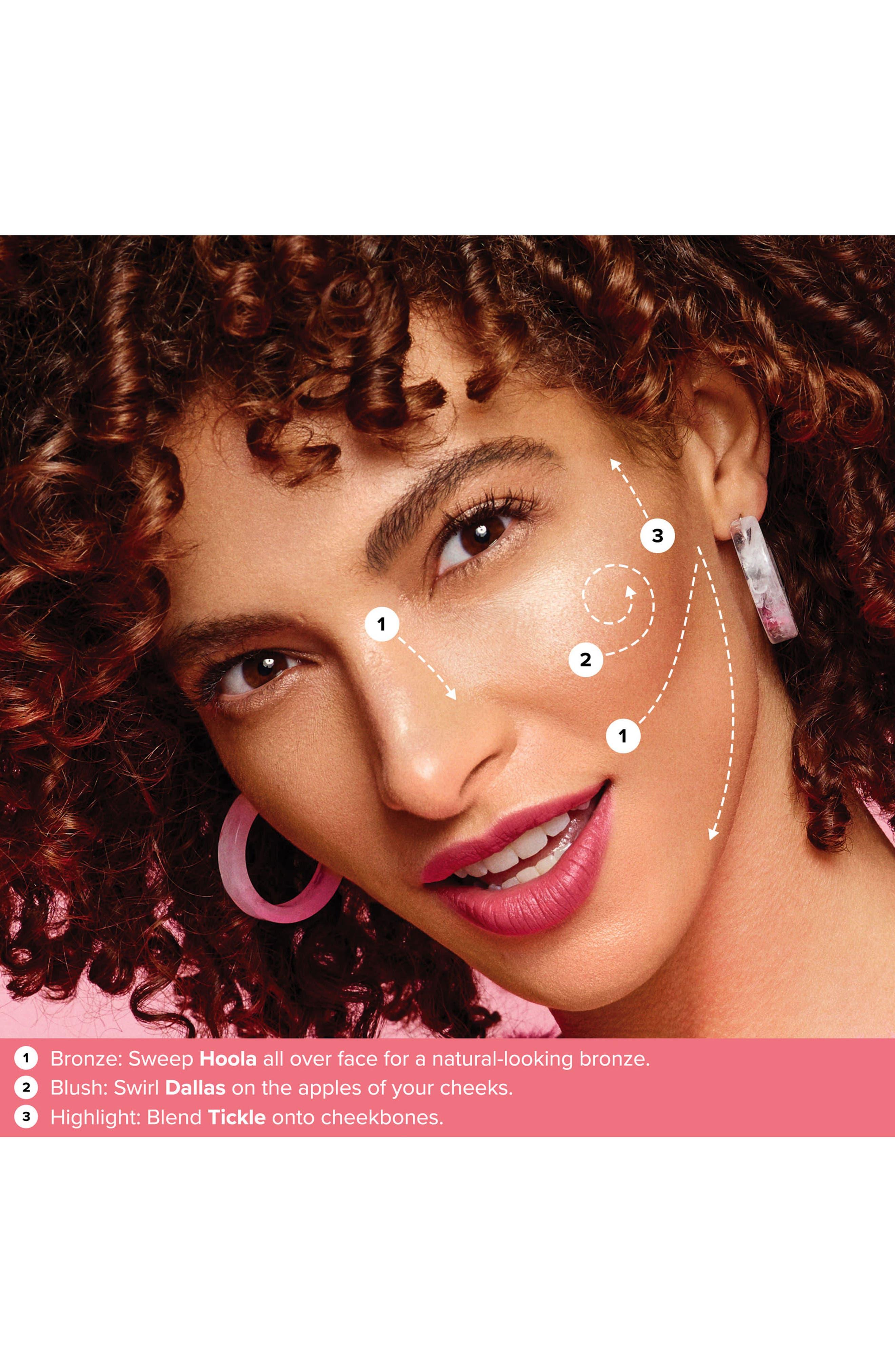 BENEFIT COSMETICS, Benefit Cheekleaders Pink Squad Cheek Palette, Alternate thumbnail 3, color, NO COLOR
