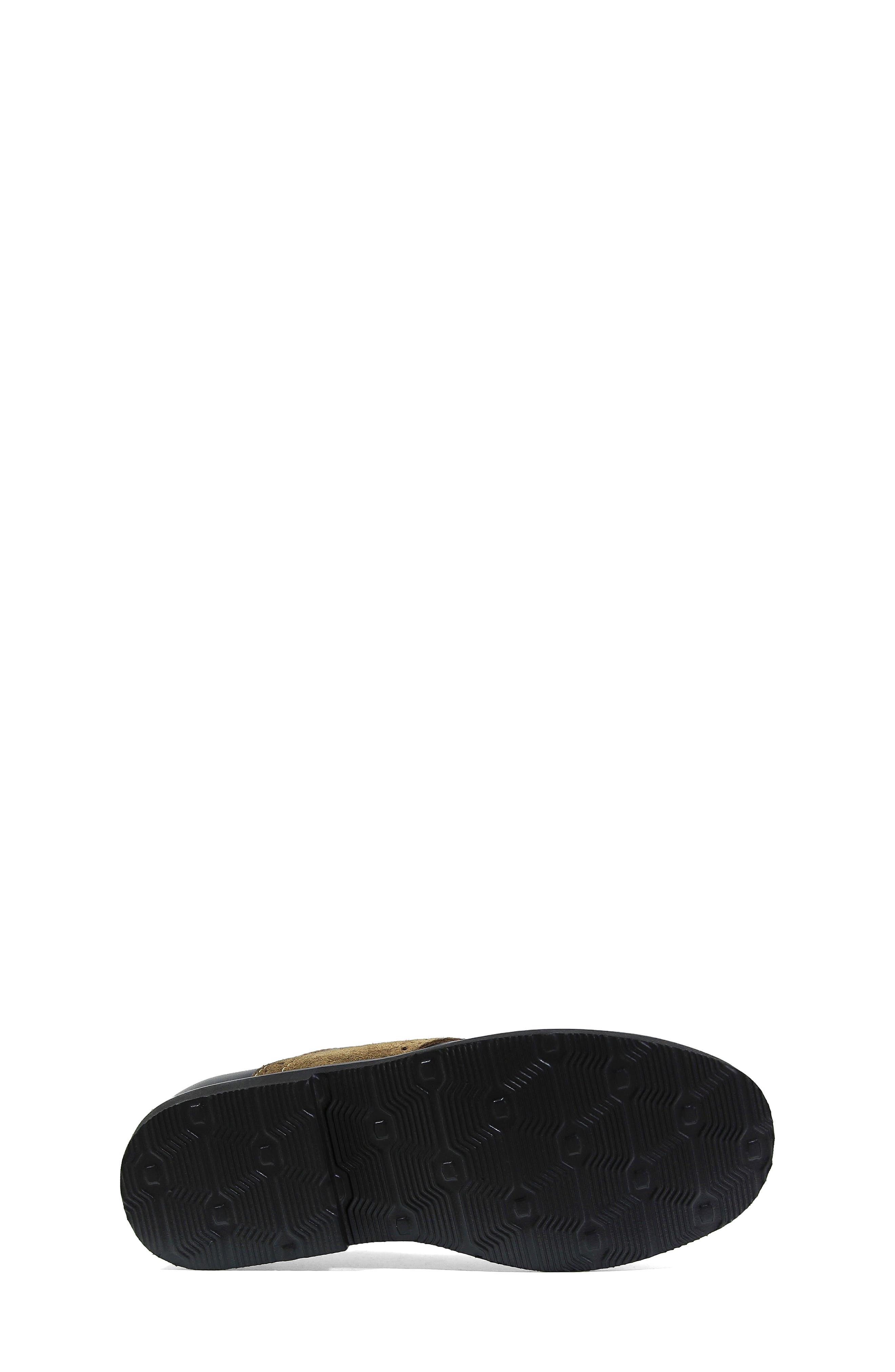 FLORSHEIM, 'Kennett Jr. II' Saddle Shoe, Alternate thumbnail 5, color, SMOOTH BLACK W/ MOCHA SUEDE