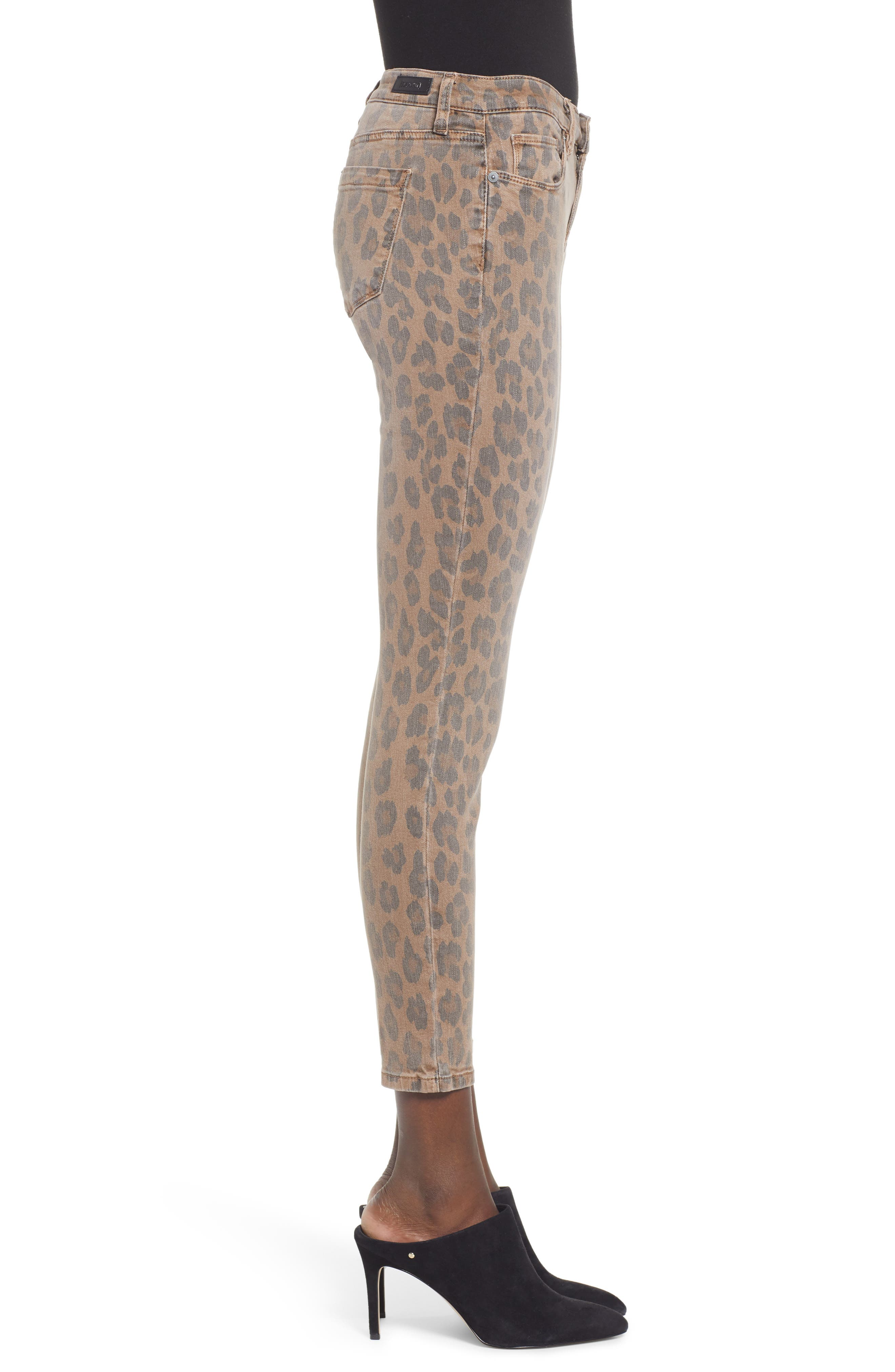 BLANKNYC, The Reade Leopard Crop Skinny Jeans, Alternate thumbnail 4, color, CATWALK