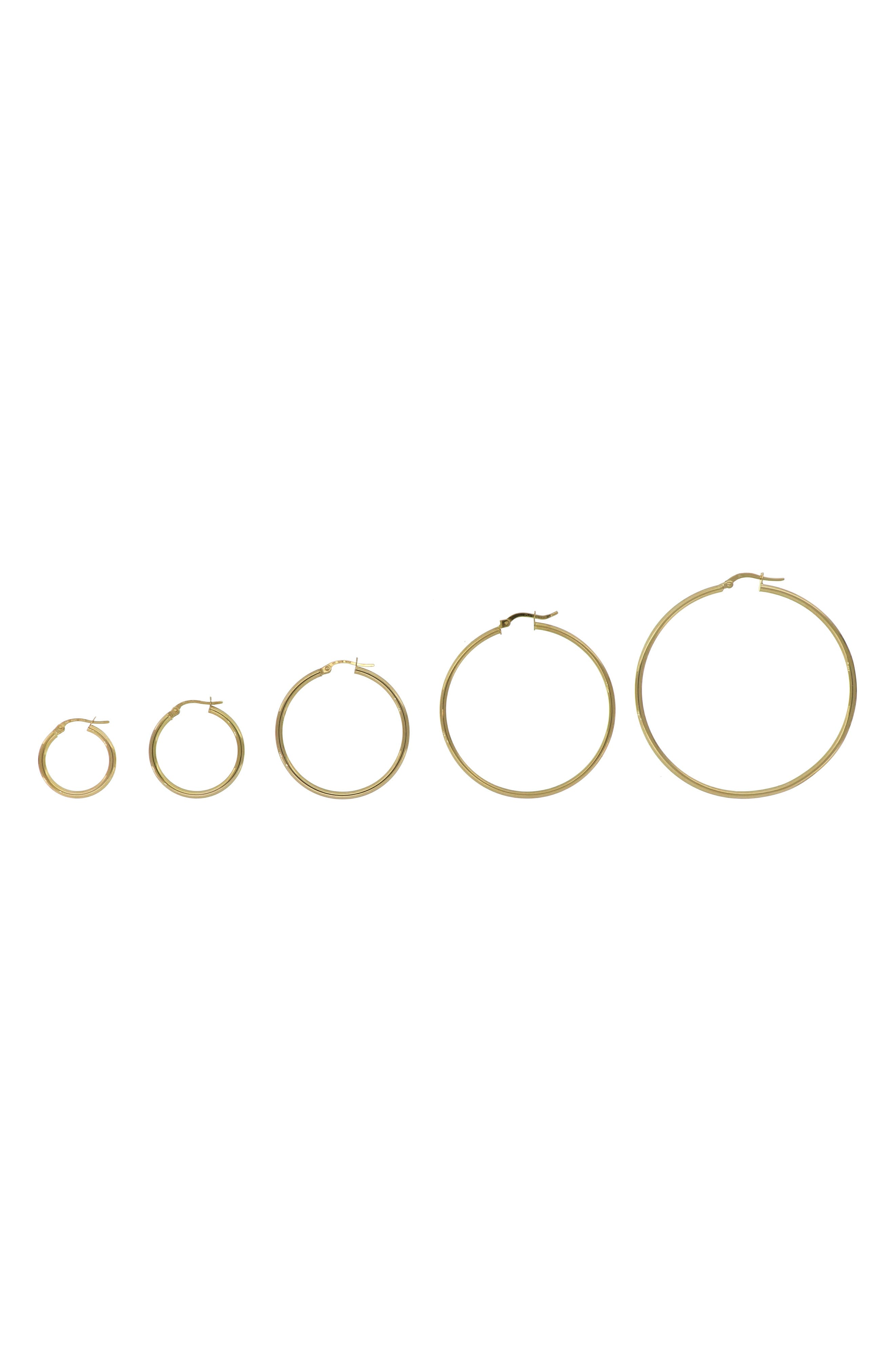 BONY LEVY, 14K Gold Hoop Earrings, Alternate thumbnail 2, color, YELLOW GOLD