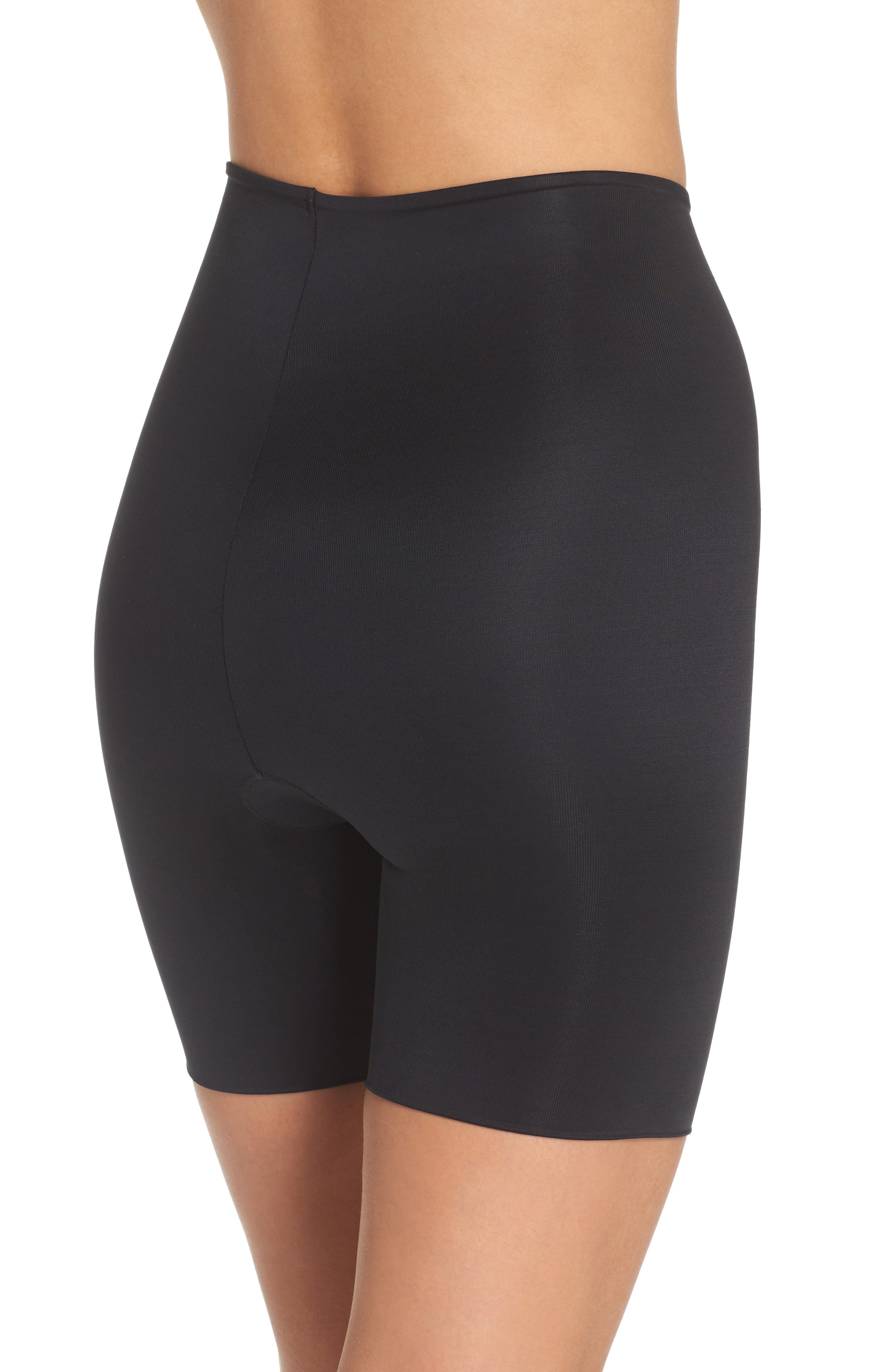 SPANX<SUP>®</SUP>, Power Conceal-Her Mid Thigh Shaping Shorts, Alternate thumbnail 2, color, VERY BLACK