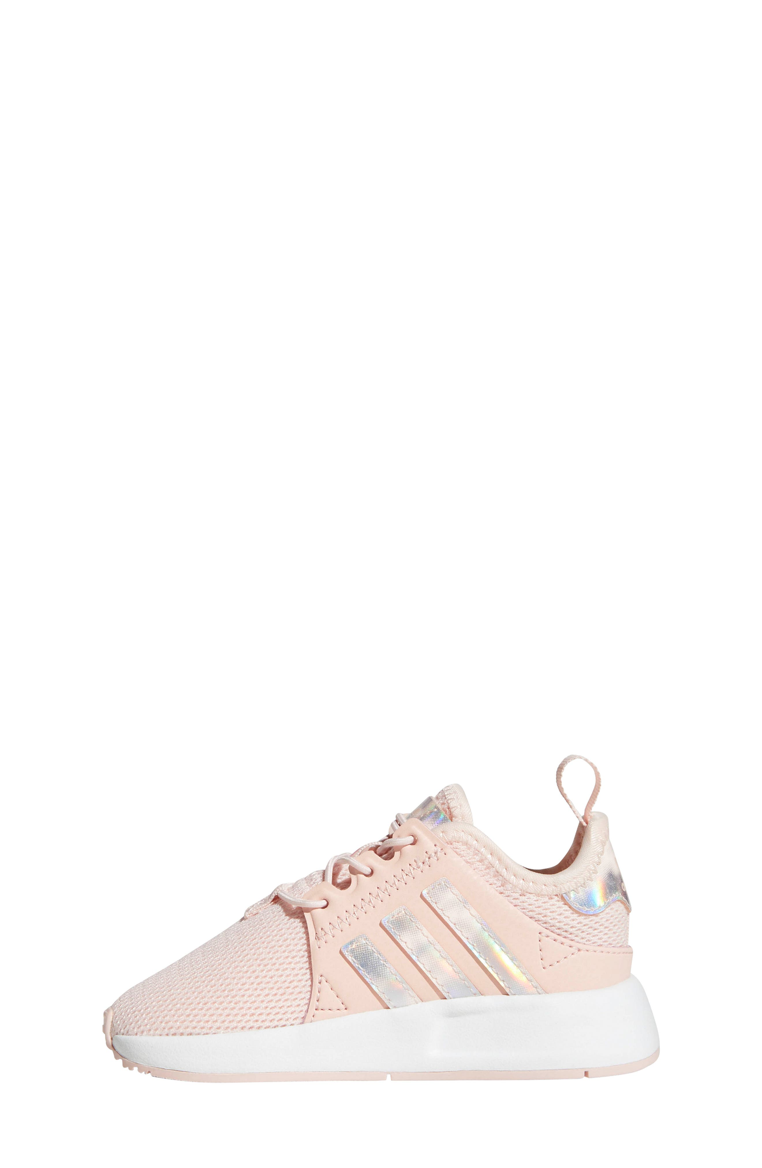 ADIDAS, X_PLR Sneaker, Alternate thumbnail 7, color, ICE PINK/ WHITE