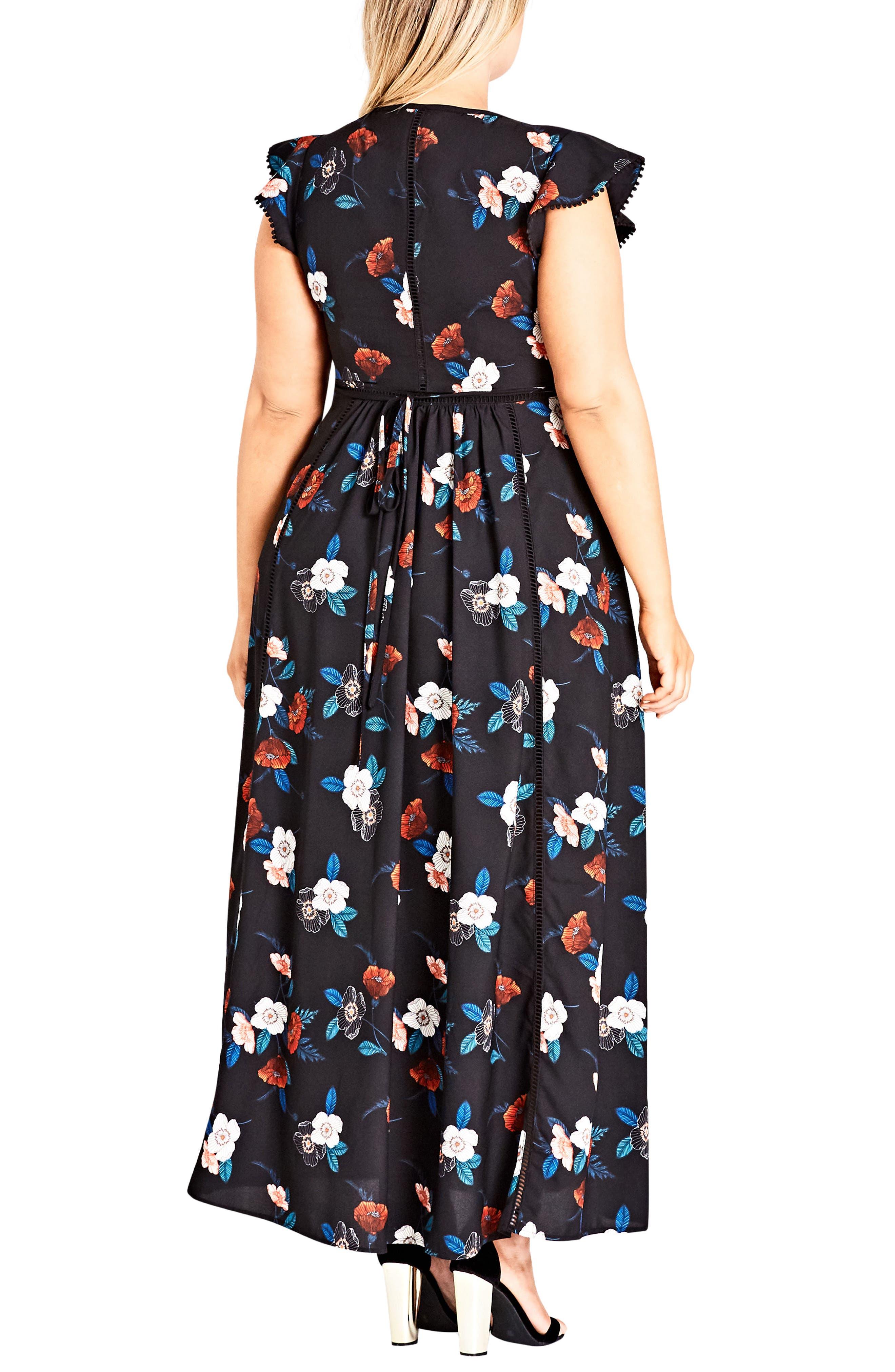 CITY CHIC, Spring Garden Maxi Dress, Alternate thumbnail 2, color, SPRING GARDEN