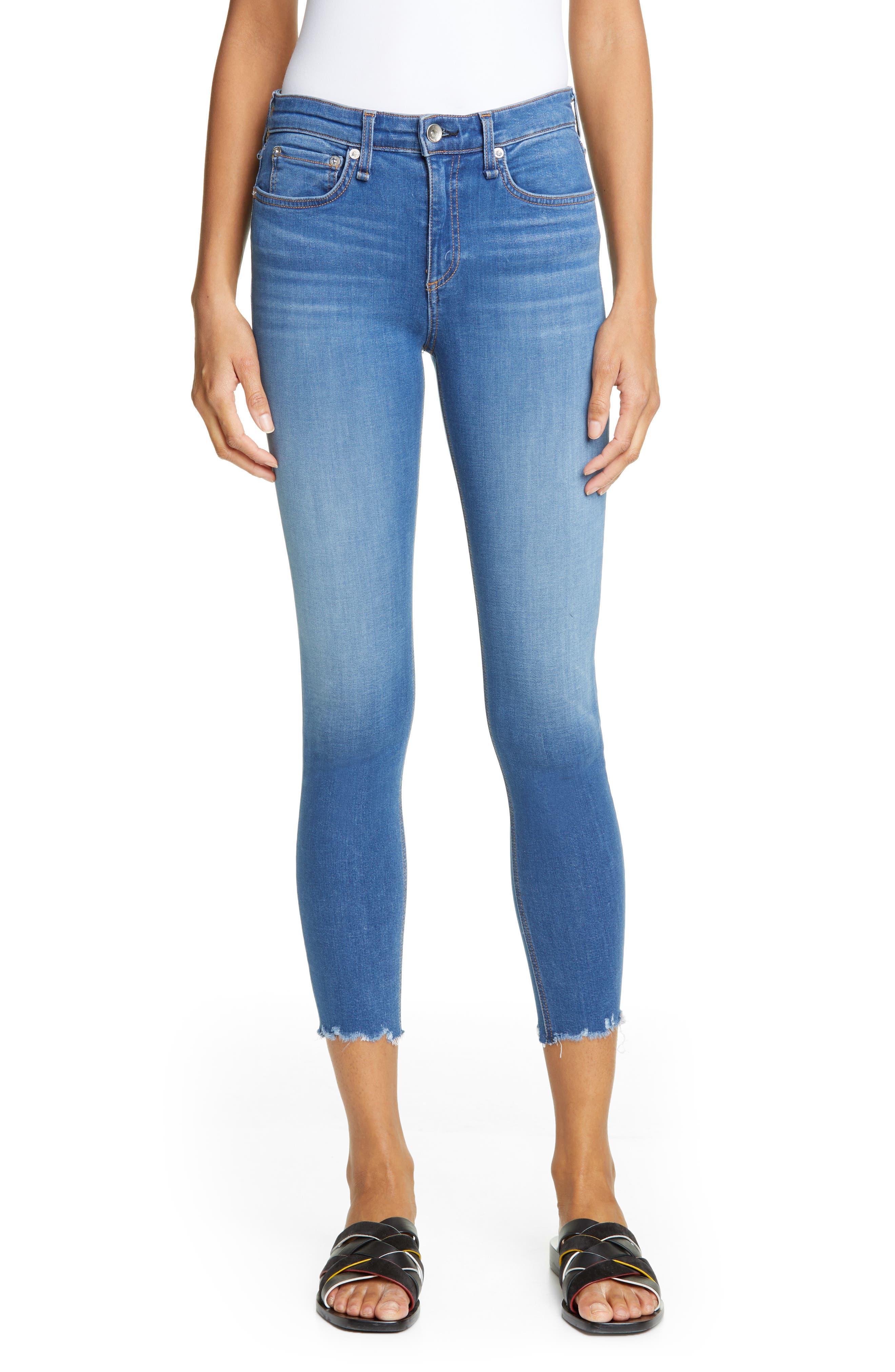 RAG & BONE Cate High Waist Ankle Skinny Jeans, Main, color, FLINT
