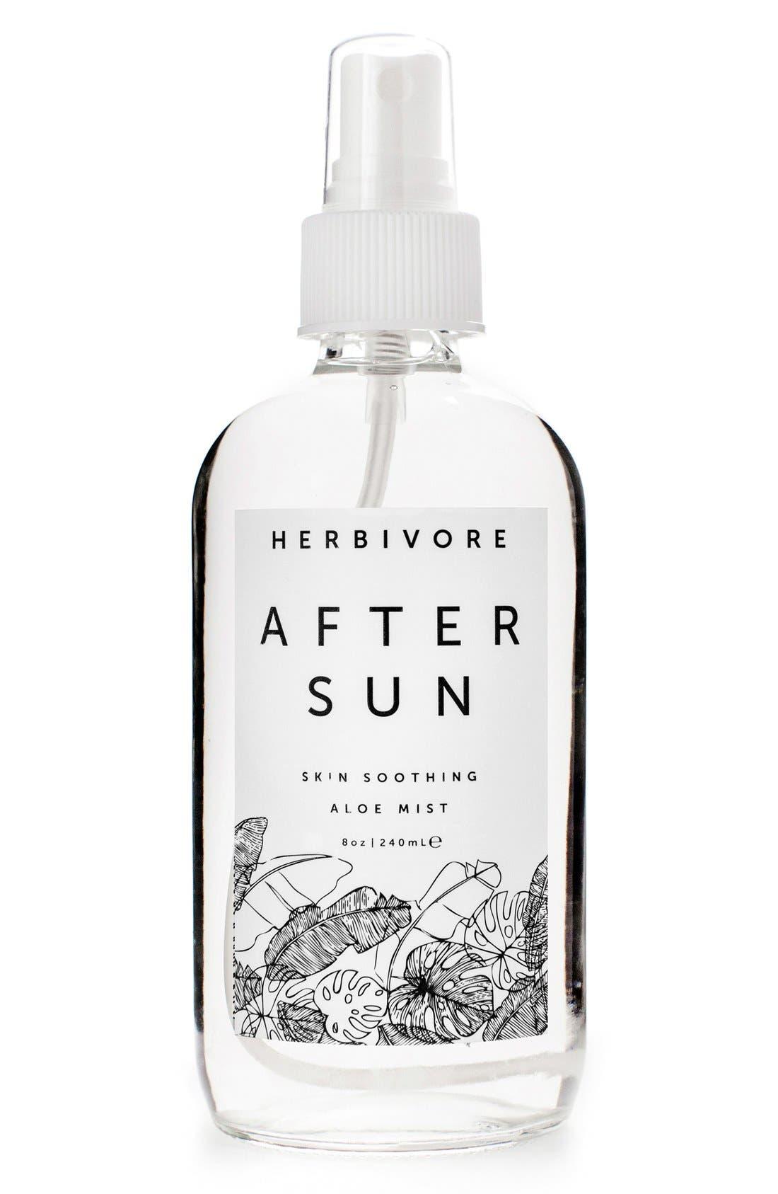 HERBIVORE BOTANICALS, After Sun Skin Soothing Aloe Mist, Main thumbnail 1, color, NO COLOR