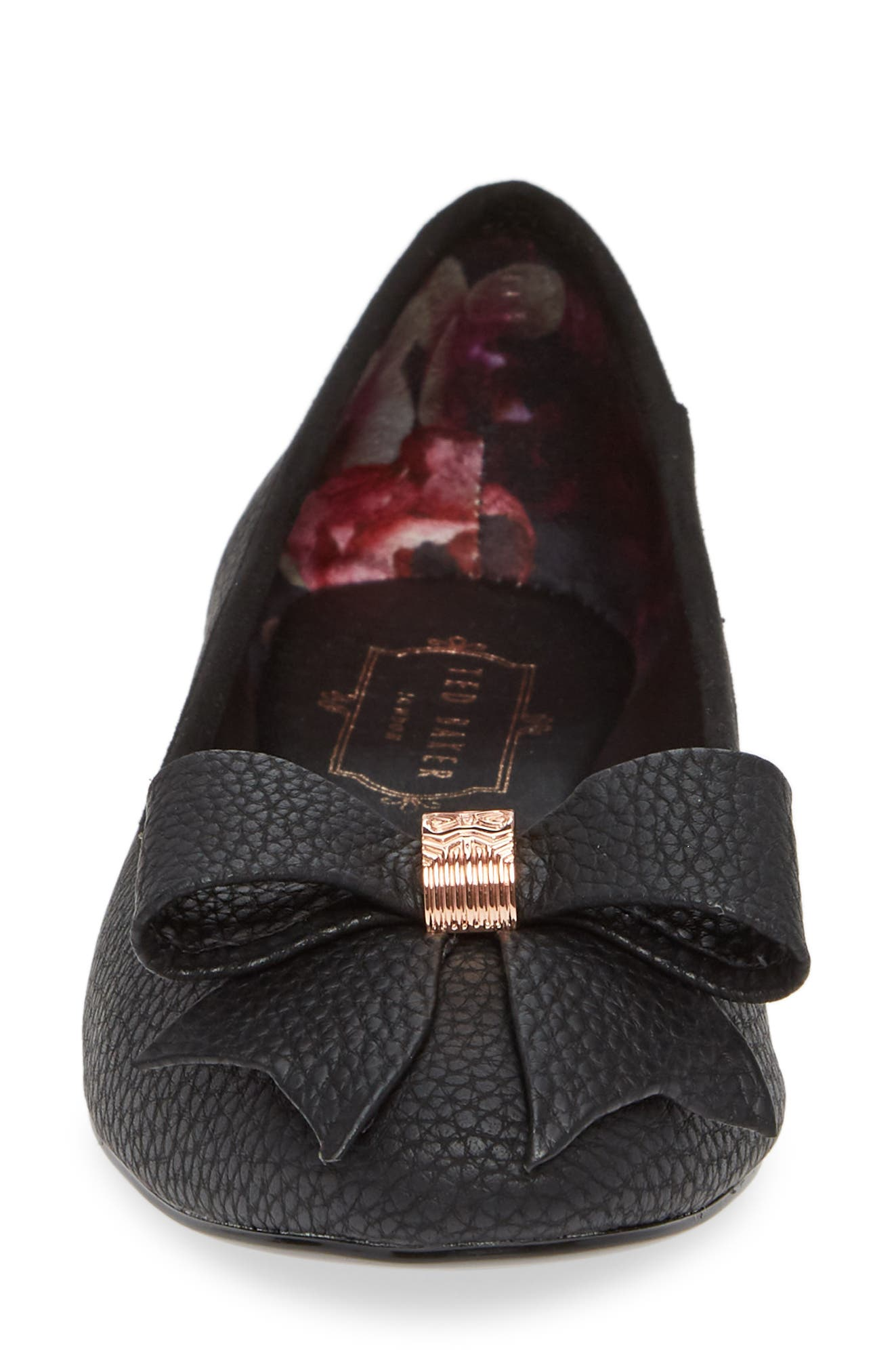 TED BAKER LONDON, Sually Flat, Alternate thumbnail 4, color, BLACK