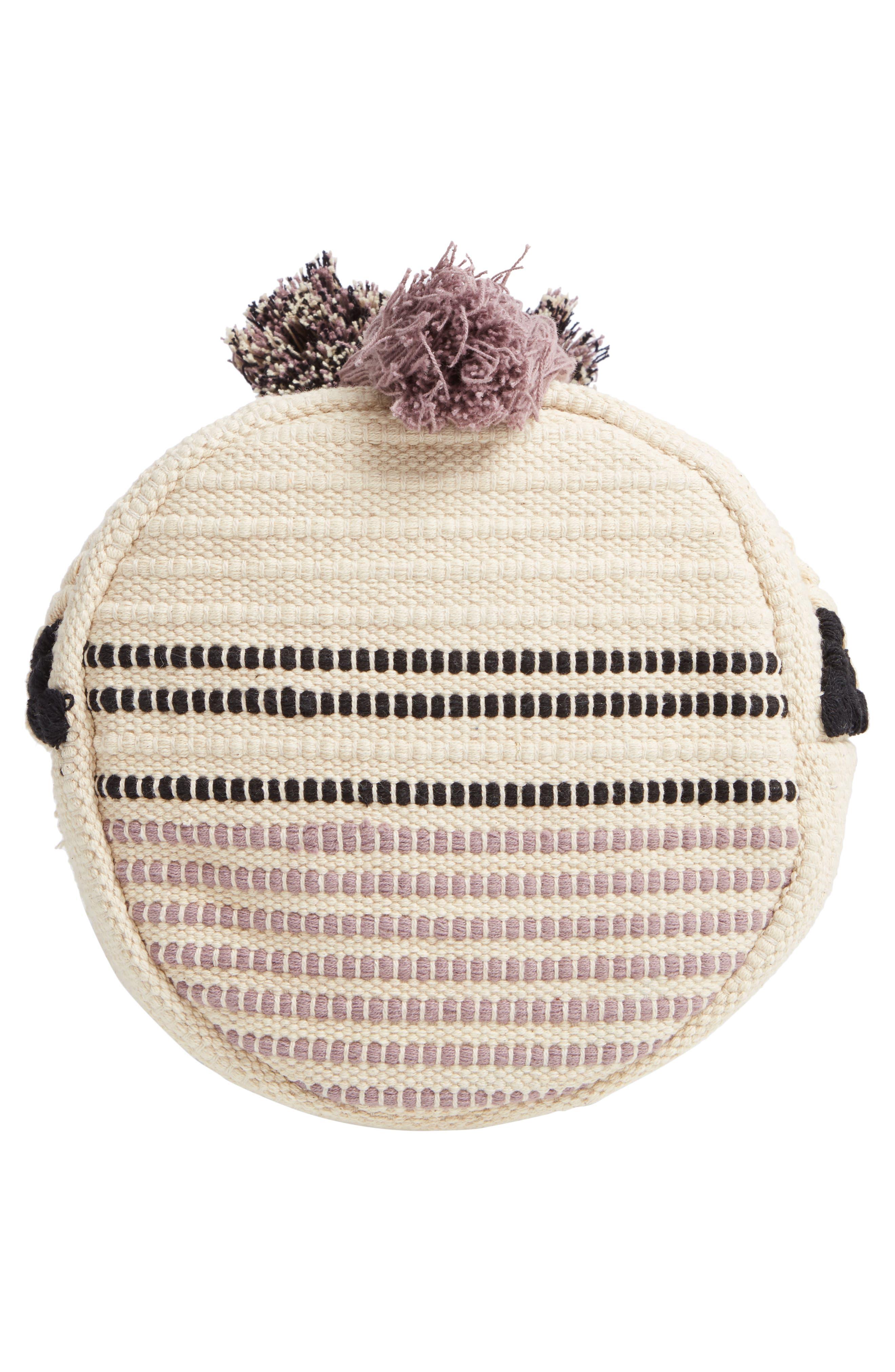 SOLE SOCIETY, Halay Woven Bucket Bag, Alternate thumbnail 7, color, 001