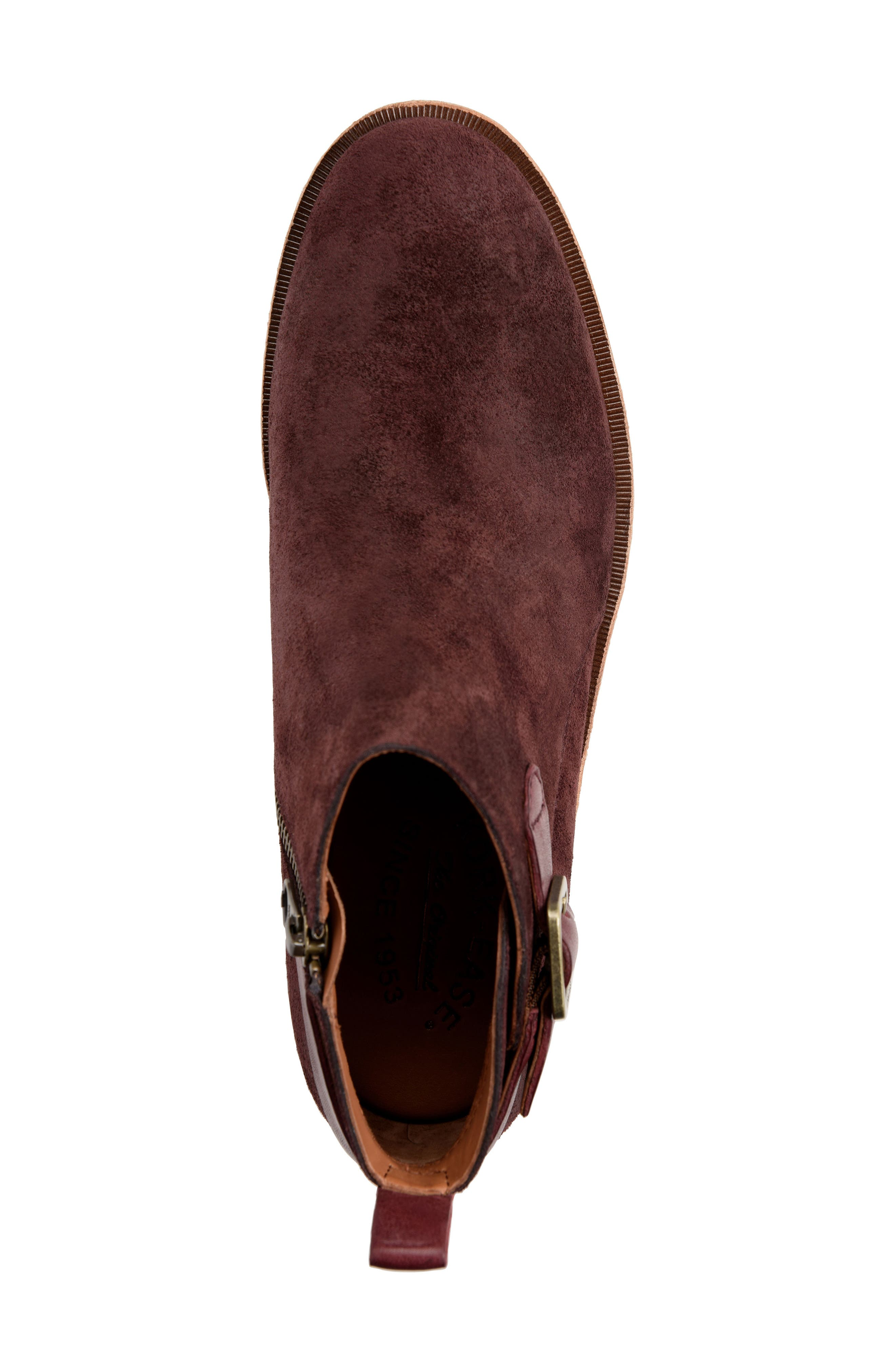KORK-EASE<SUP>®</SUP>, Mesa Boot, Alternate thumbnail 5, color, BURGUNDY SUEDE