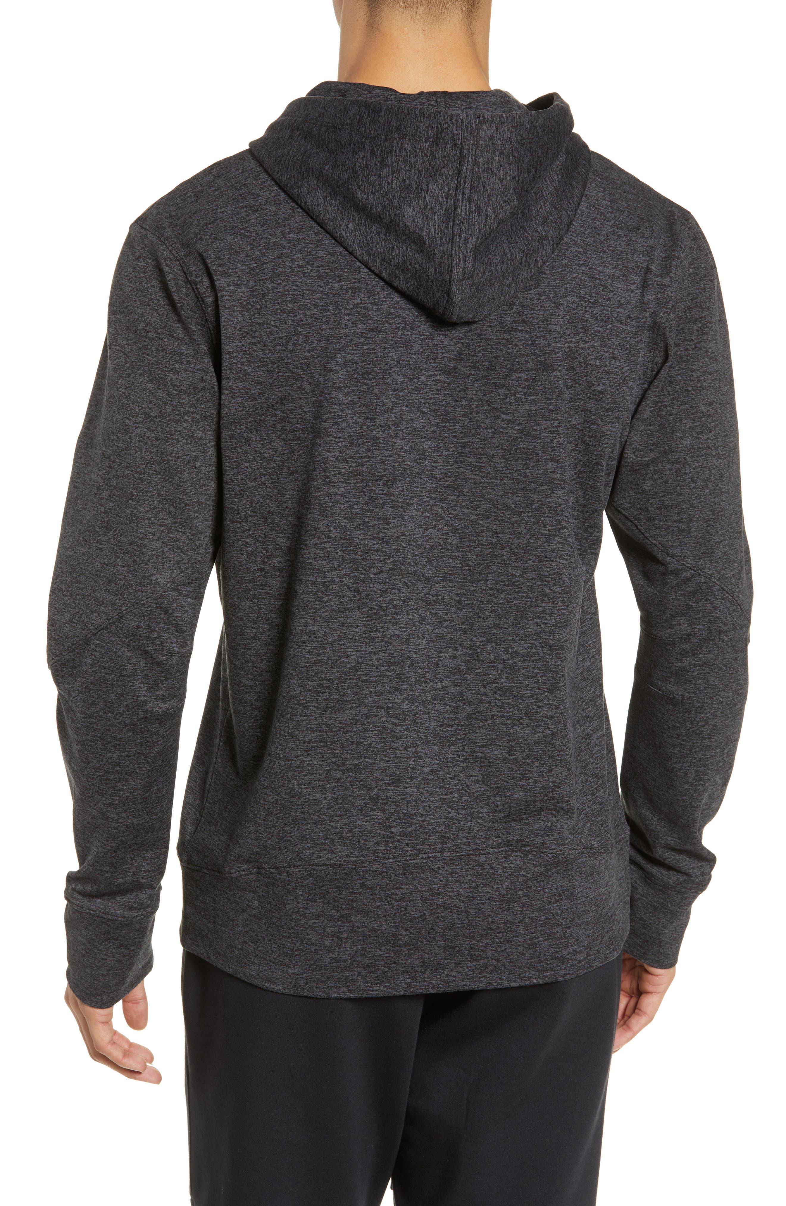 SODO, Elevate Hooded Sweatshirt, Alternate thumbnail 2, color, HEATHER CHARCOAL BLACK/ BLACK