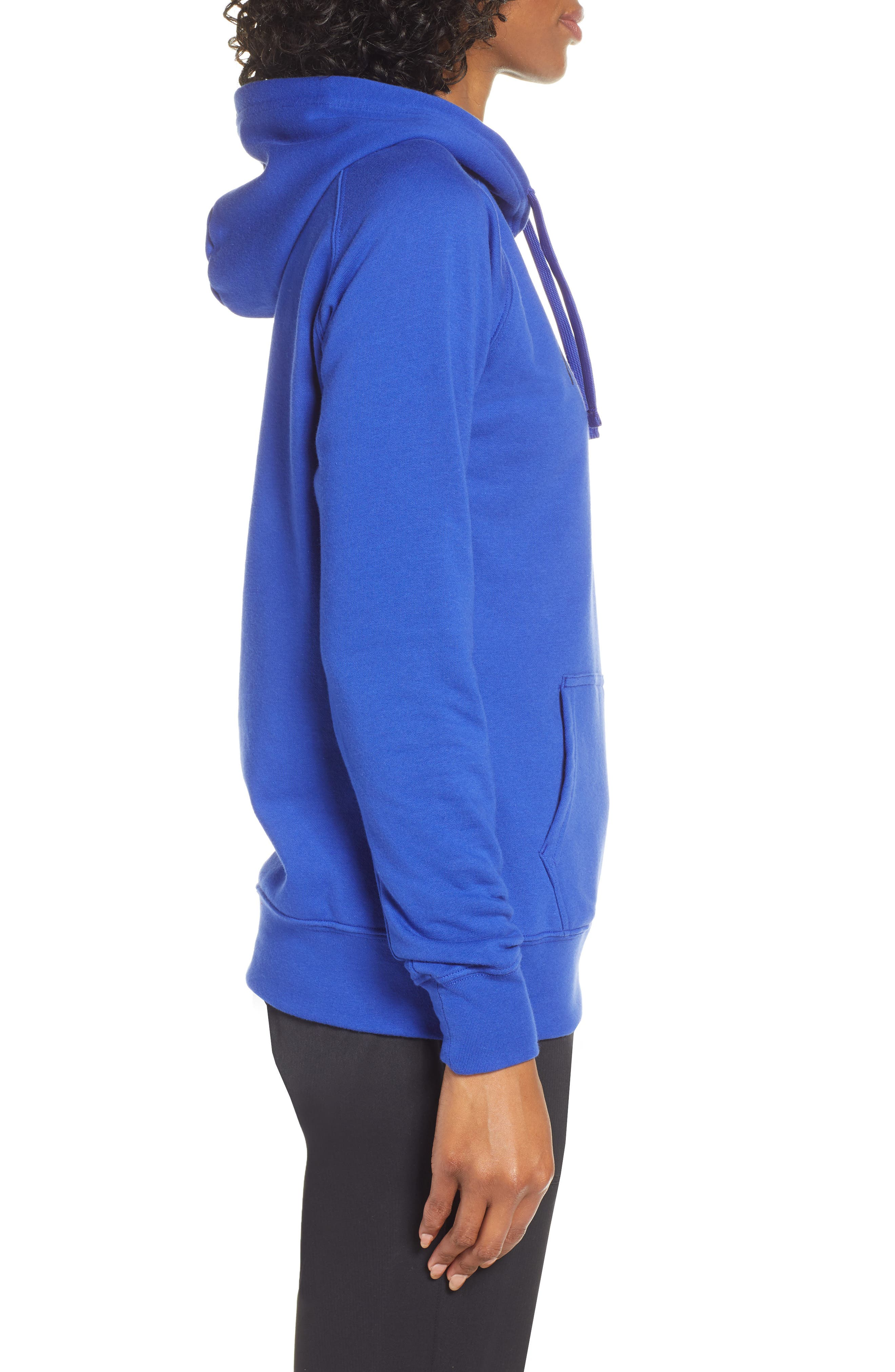 THE NORTH FACE, Half Dome Hoodie, Alternate thumbnail 4, color, AZTEC BLUE/ TNF BLACK