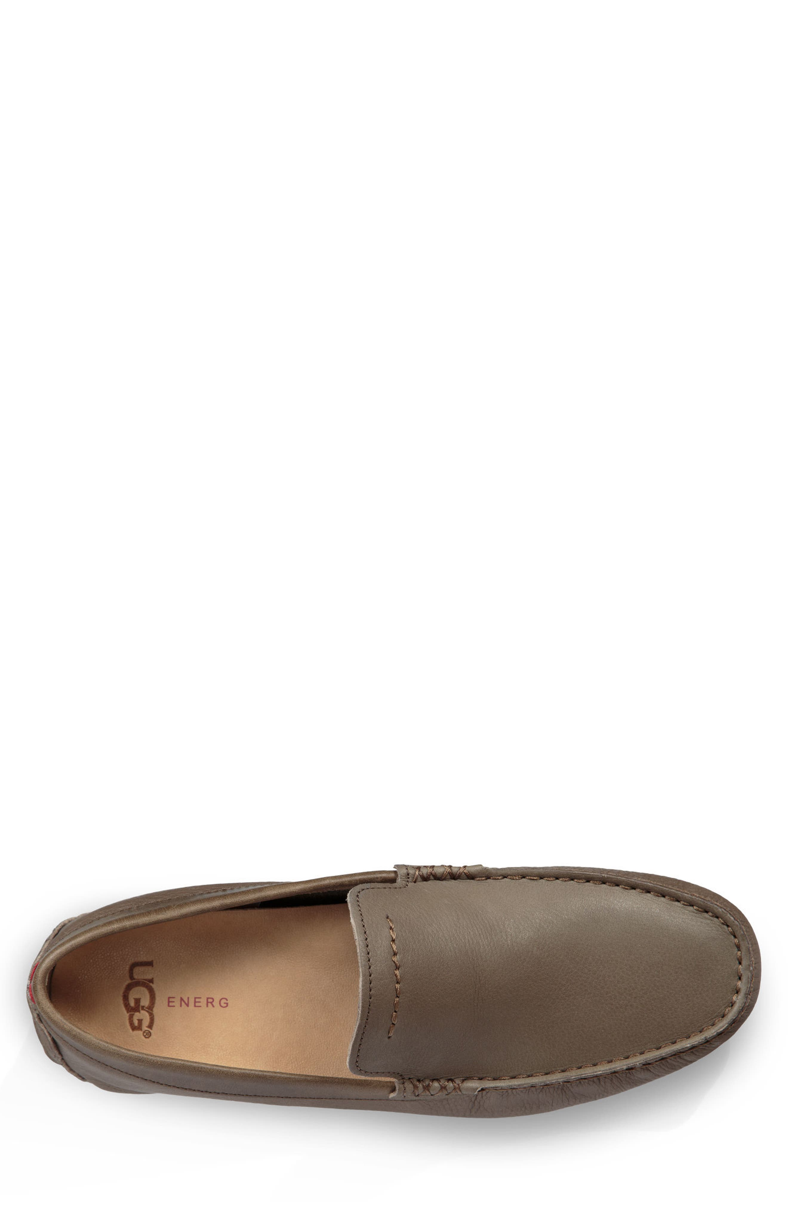 UGG<SUP>®</SUP>, 'Henrick' Driving Shoe, Alternate thumbnail 4, color, TAUPE