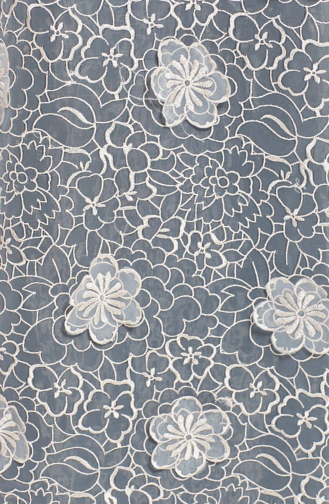 ERIN ERIN FETHERSTON, 'Jan' 3D Floral Organza Gown, Alternate thumbnail 2, color, 687