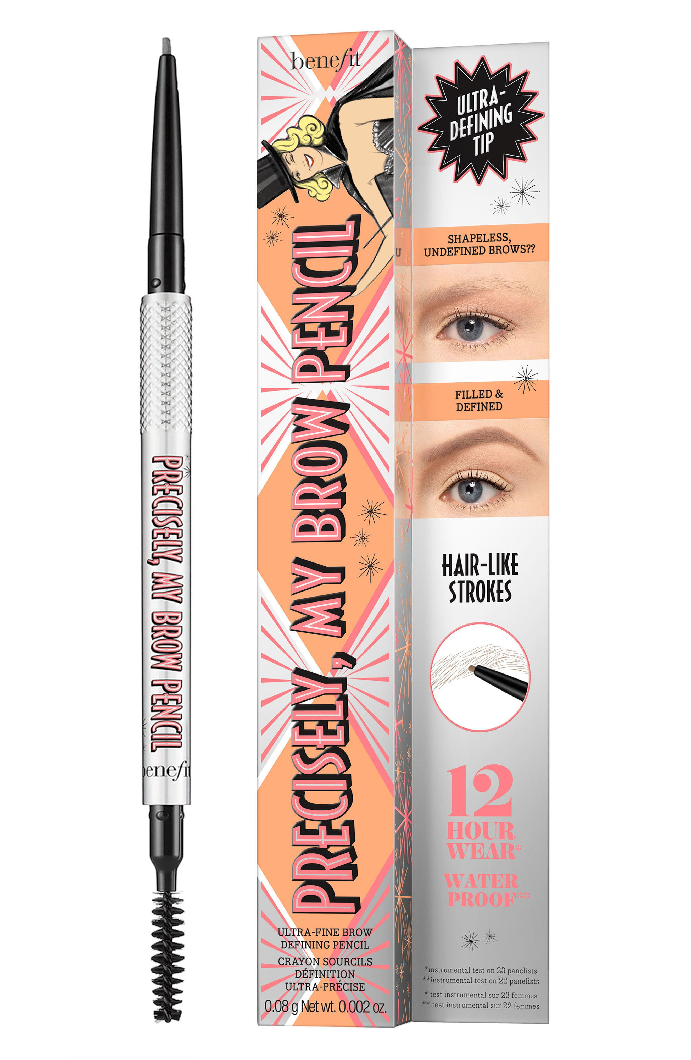 BENEFIT COSMETICS, Benefit Precisely, My Brow Pencil Ultra-Fine Shape & Define Pencil, Alternate thumbnail 6, color, 01 LIGHT/COOL BLONDE