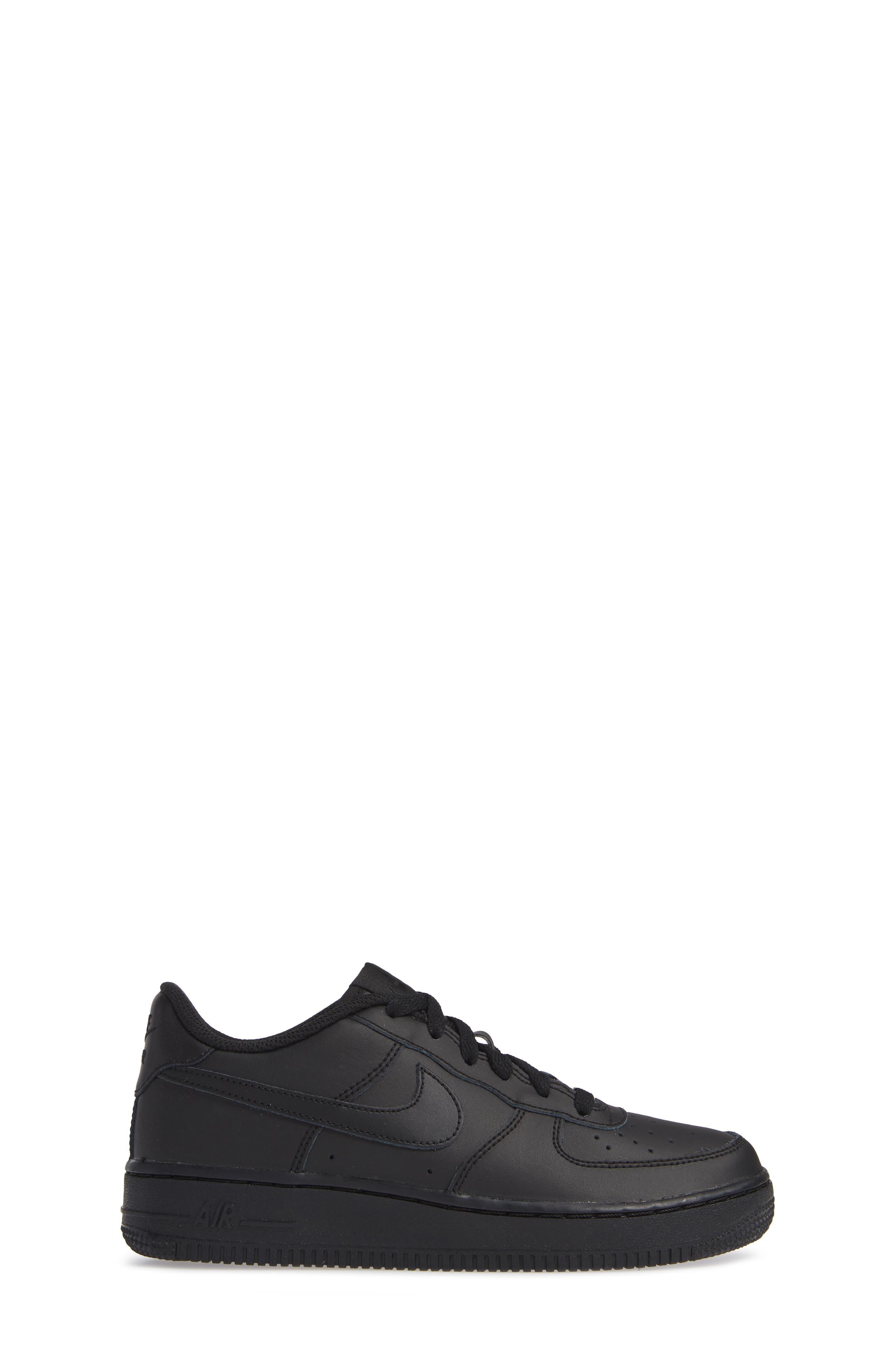 NIKE, Air Force 1 Sneaker, Alternate thumbnail 3, color, BLACK/ BLACK/ BLACK