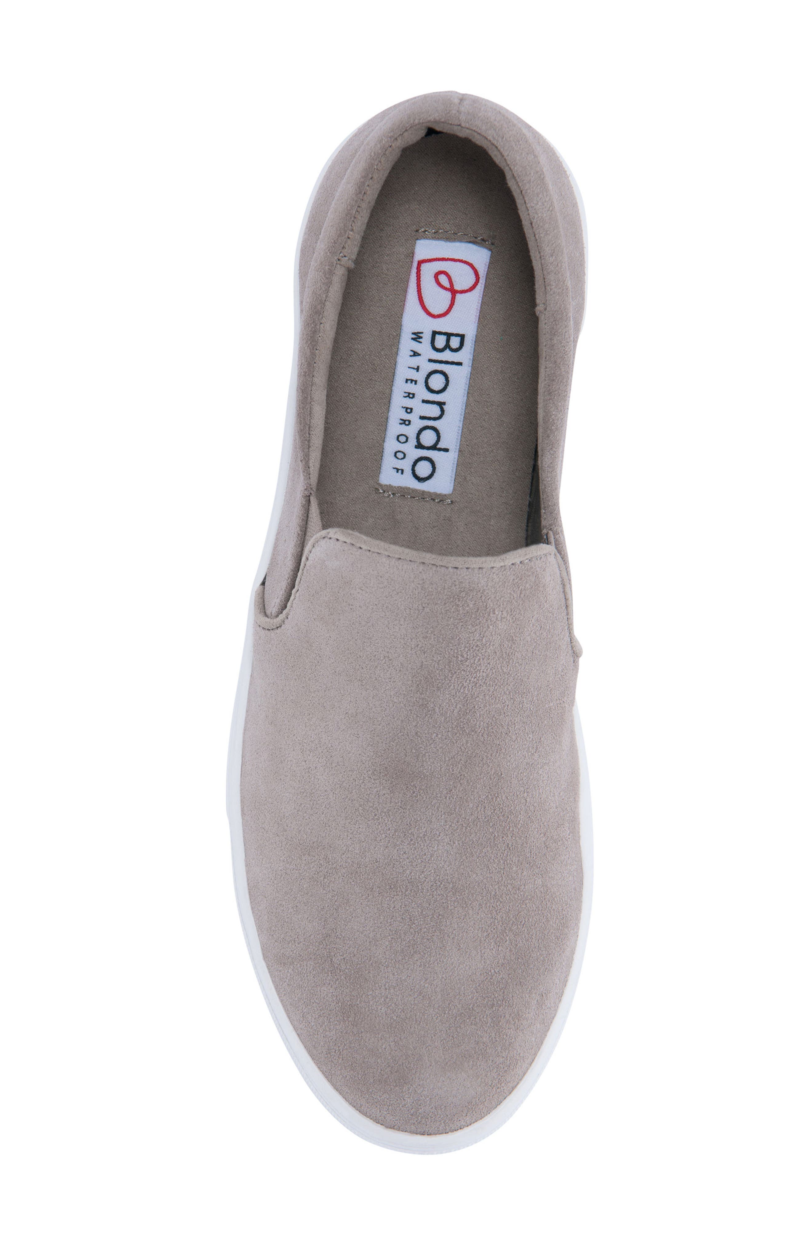 BLONDO, Gracie Waterproof Slip-On Sneaker, Alternate thumbnail 5, color, MUSHROOM SUEDE
