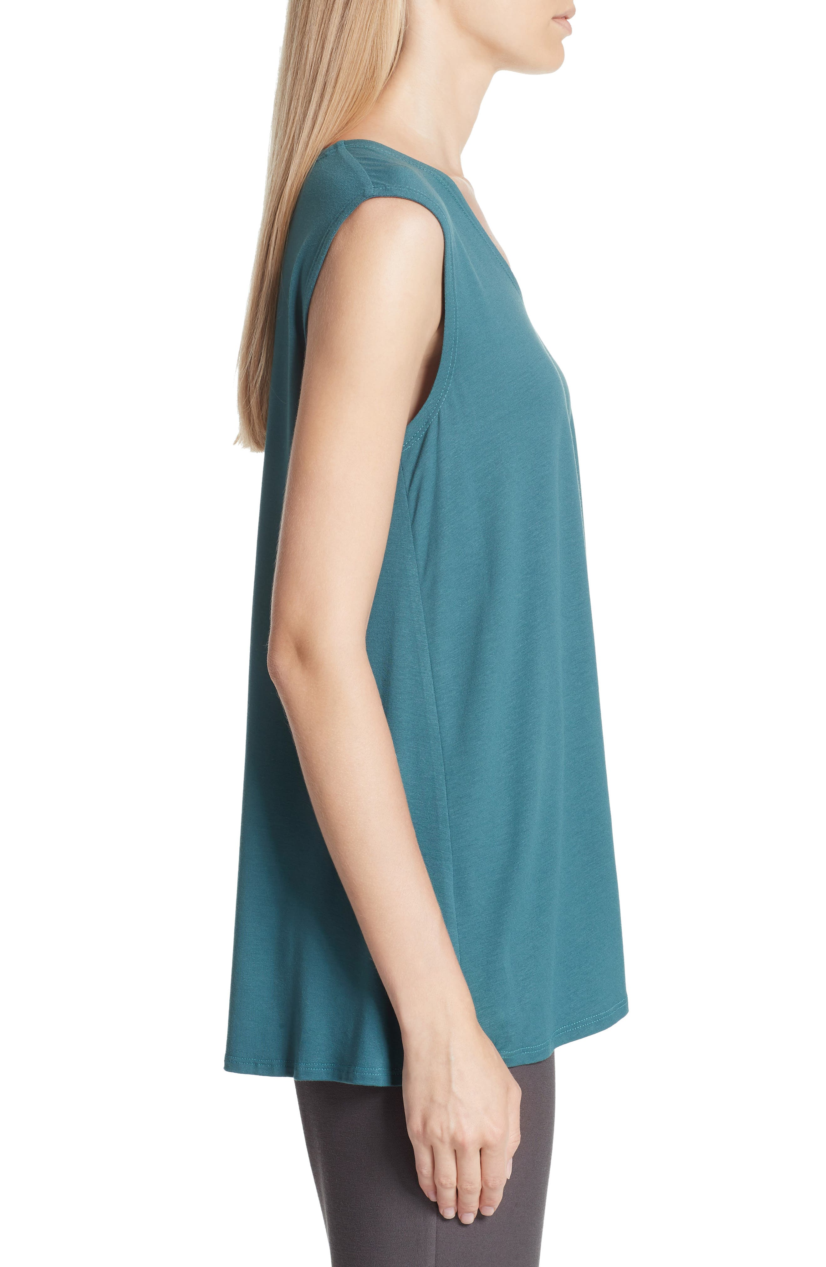 EILEEN FISHER, Jersey Tank, Alternate thumbnail 3, color, 441