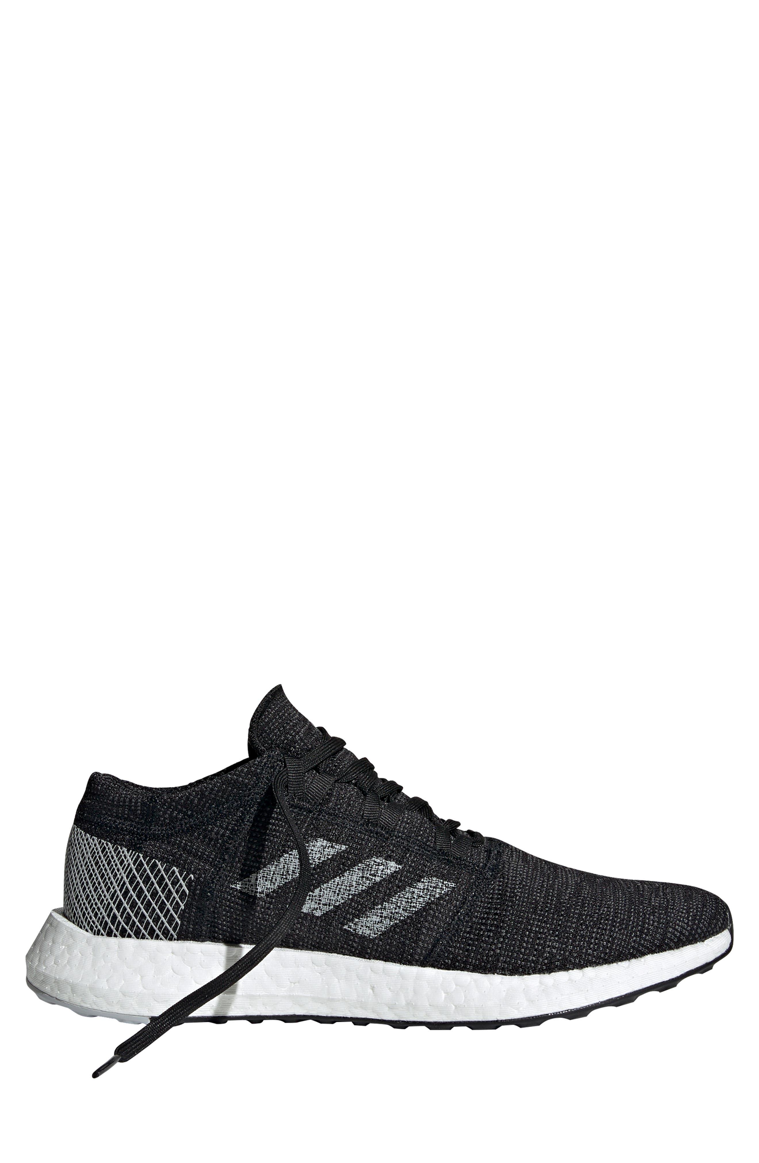 ADIDAS, PureBoost Go Running Shoe, Alternate thumbnail 8, color, CORE BLACK/ GREY