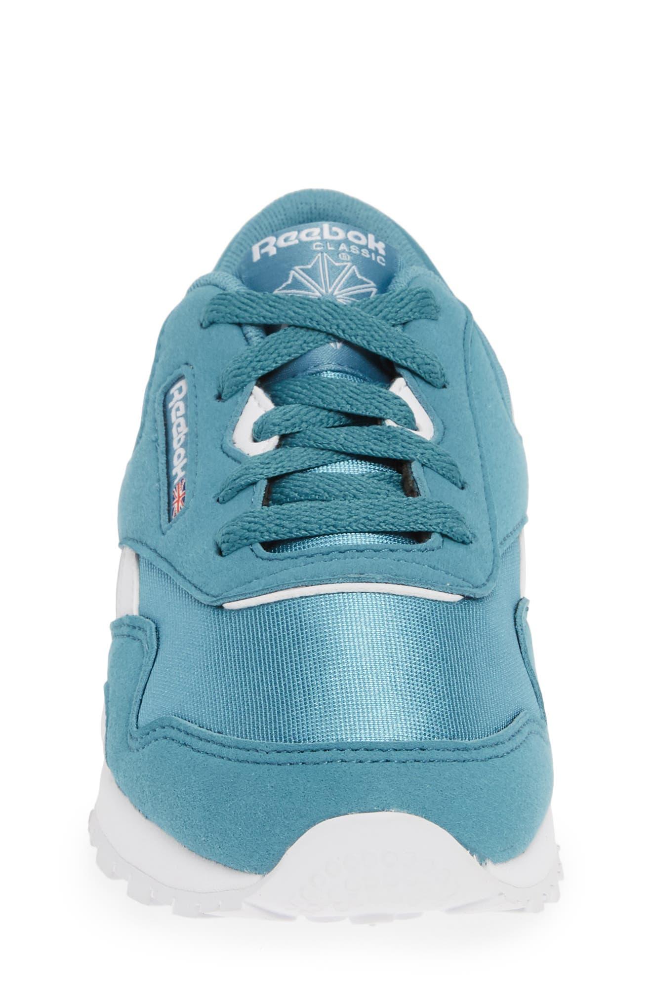 REEBOK, Classic Nylon Sneaker, Alternate thumbnail 4, color, 406