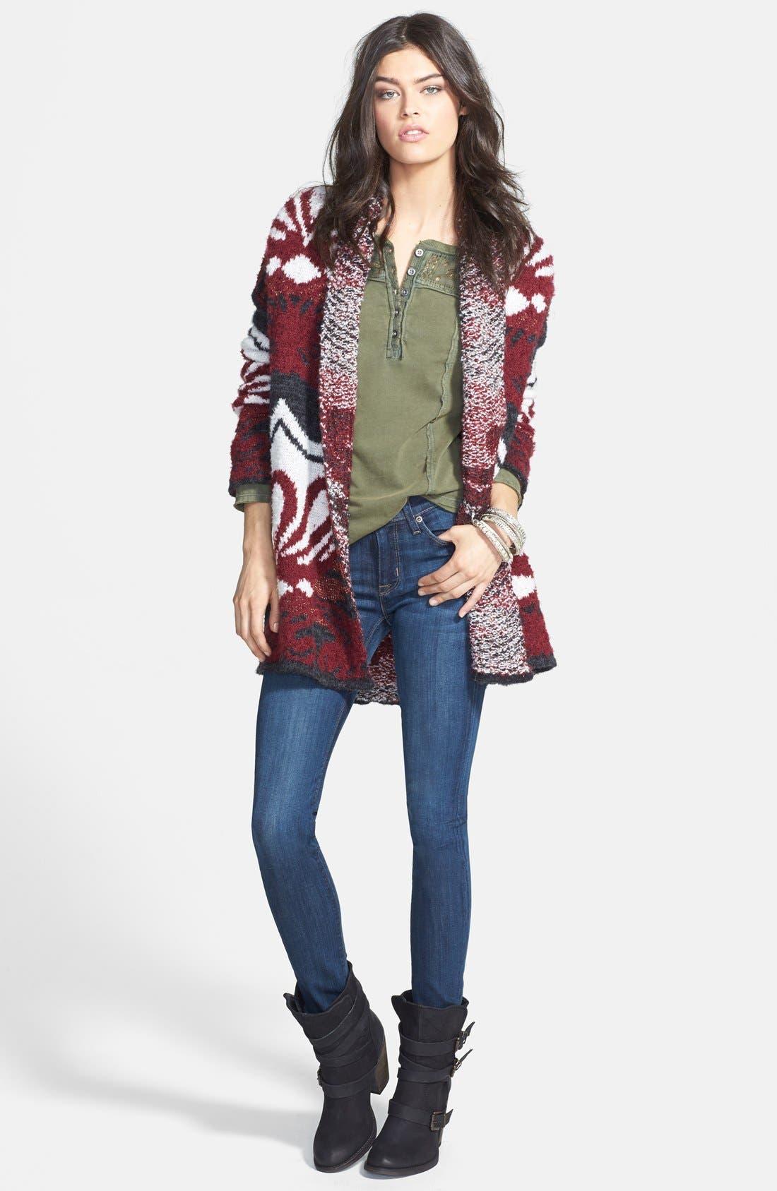 HUDSON JEANS, 'Collette' Skinny Jeans, Alternate thumbnail 4, color, 400