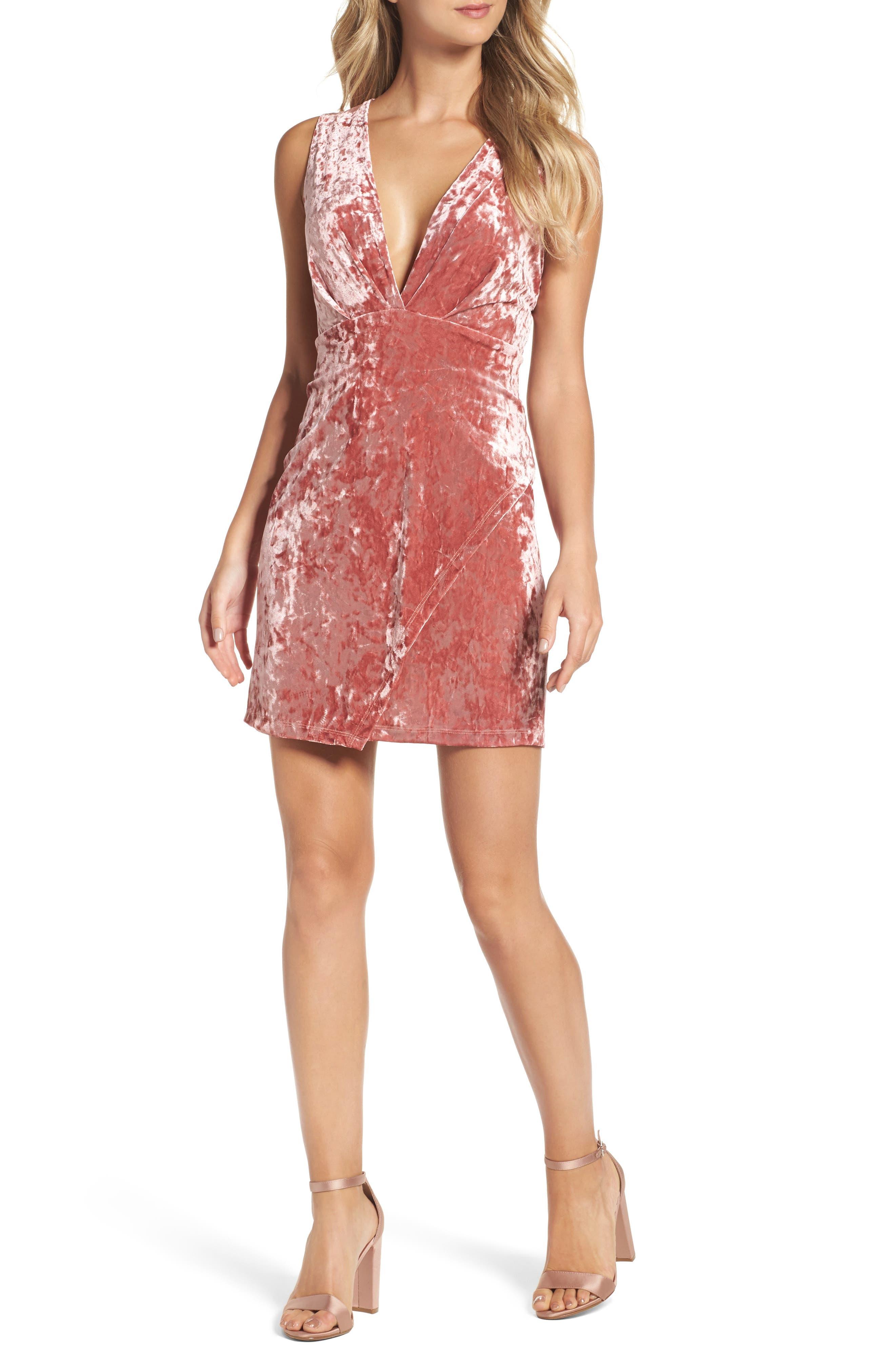 Fraiche By J Velvet Minidress, Pink