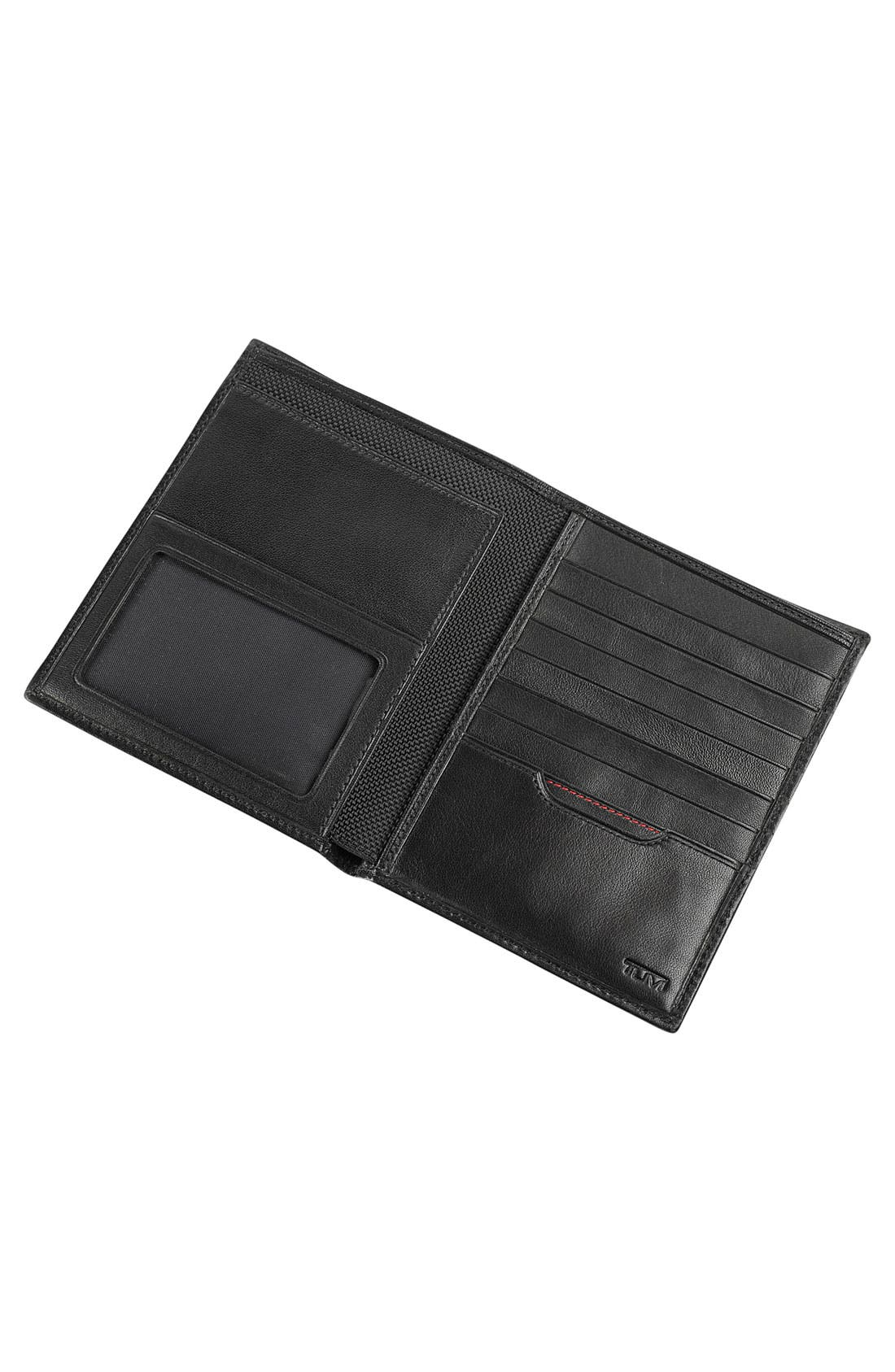 TUMI, Delta Passport Case, Alternate thumbnail 4, color, BLACK