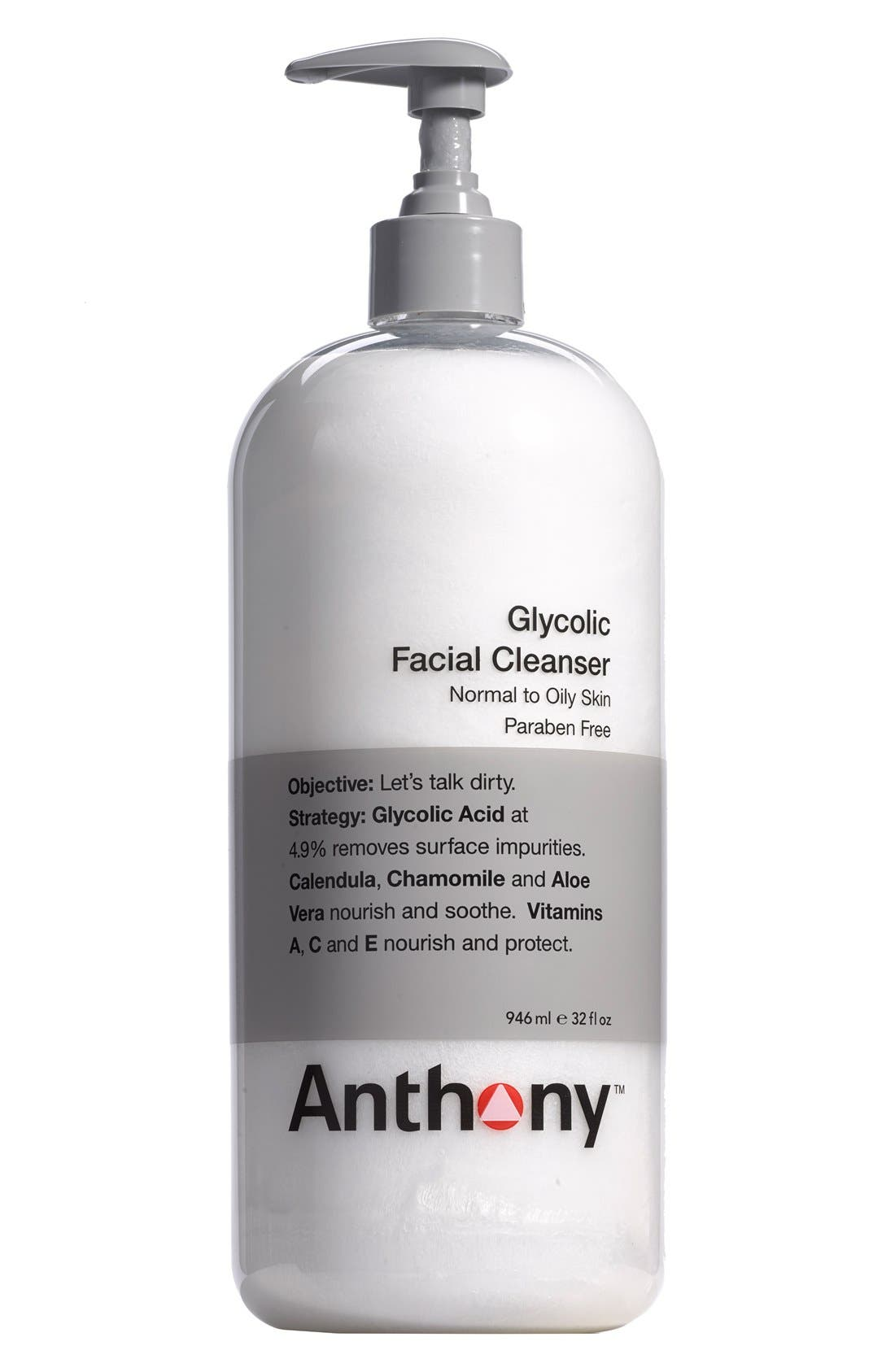 ANTHONY,  Jumbo Glycolic Facial Cleanser, Main thumbnail 1, color, NO COLOR