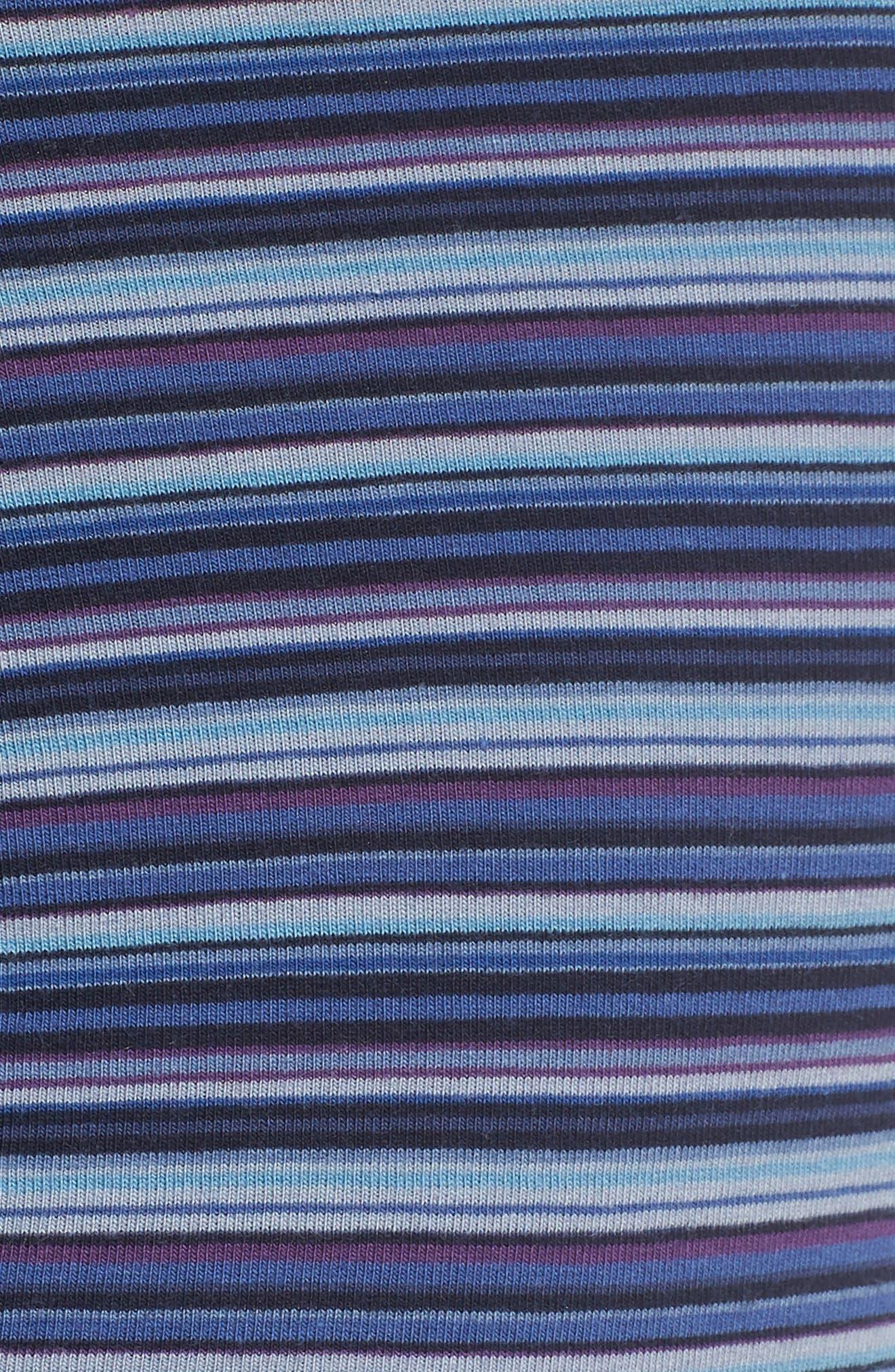 PAUL SMITH, Stripe Trunks, Alternate thumbnail 5, color, BLACK