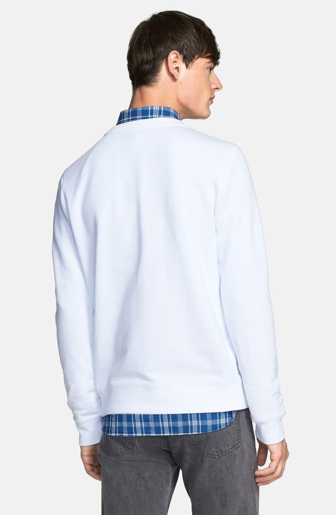 A.P.C., 'Paris 87' Graphic Sweatshirt, Alternate thumbnail 3, color, 100