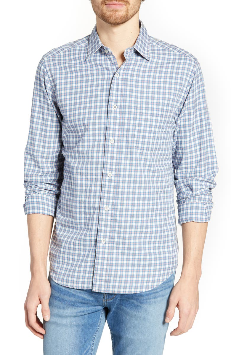 Faherty T-shirts Ventura Regular Fit Plaid Sport Shirt