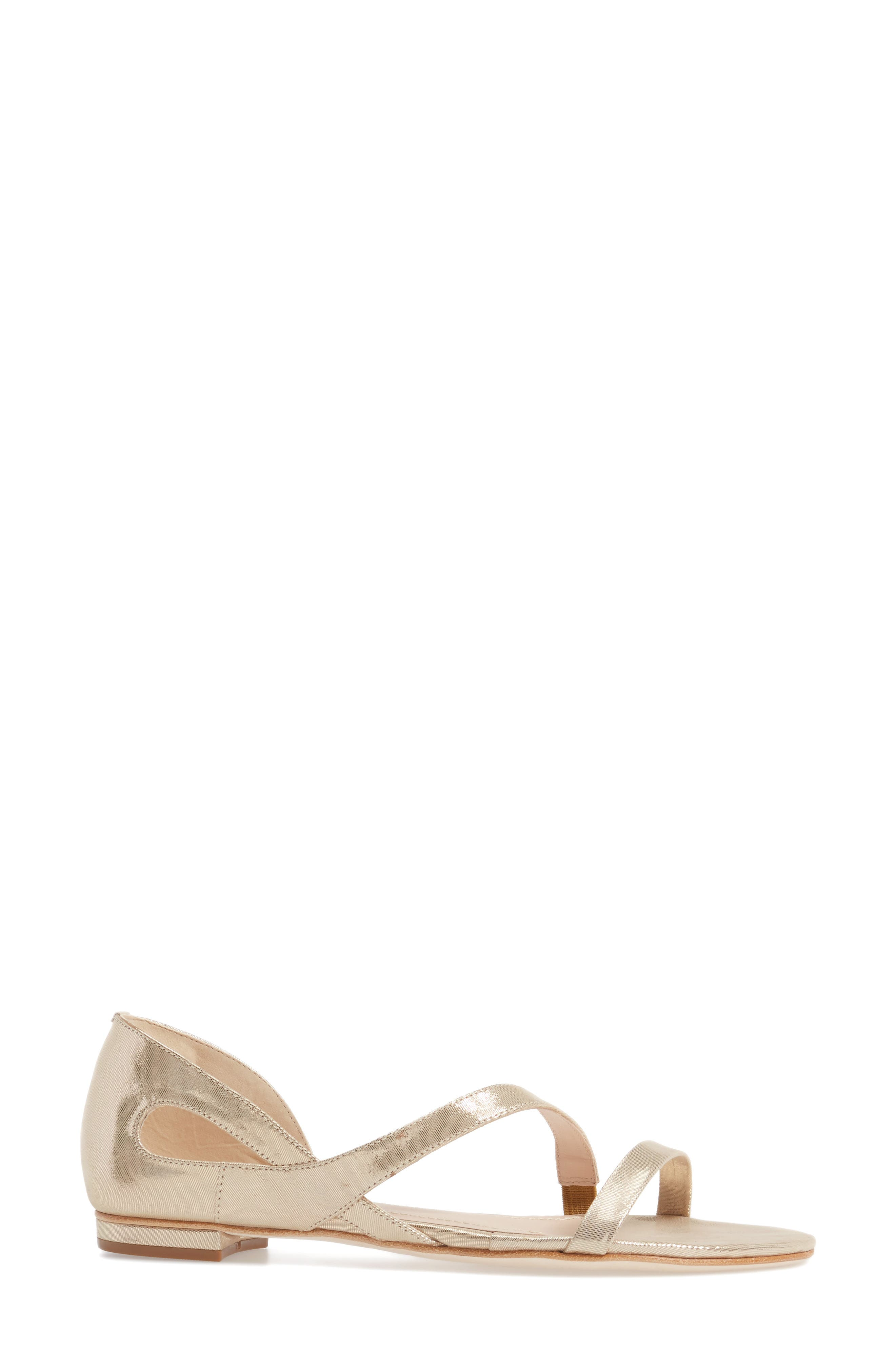 KLUB NICO, Jeanne Sandal, Alternate thumbnail 3, color, CHAMPAGNE LEATHER