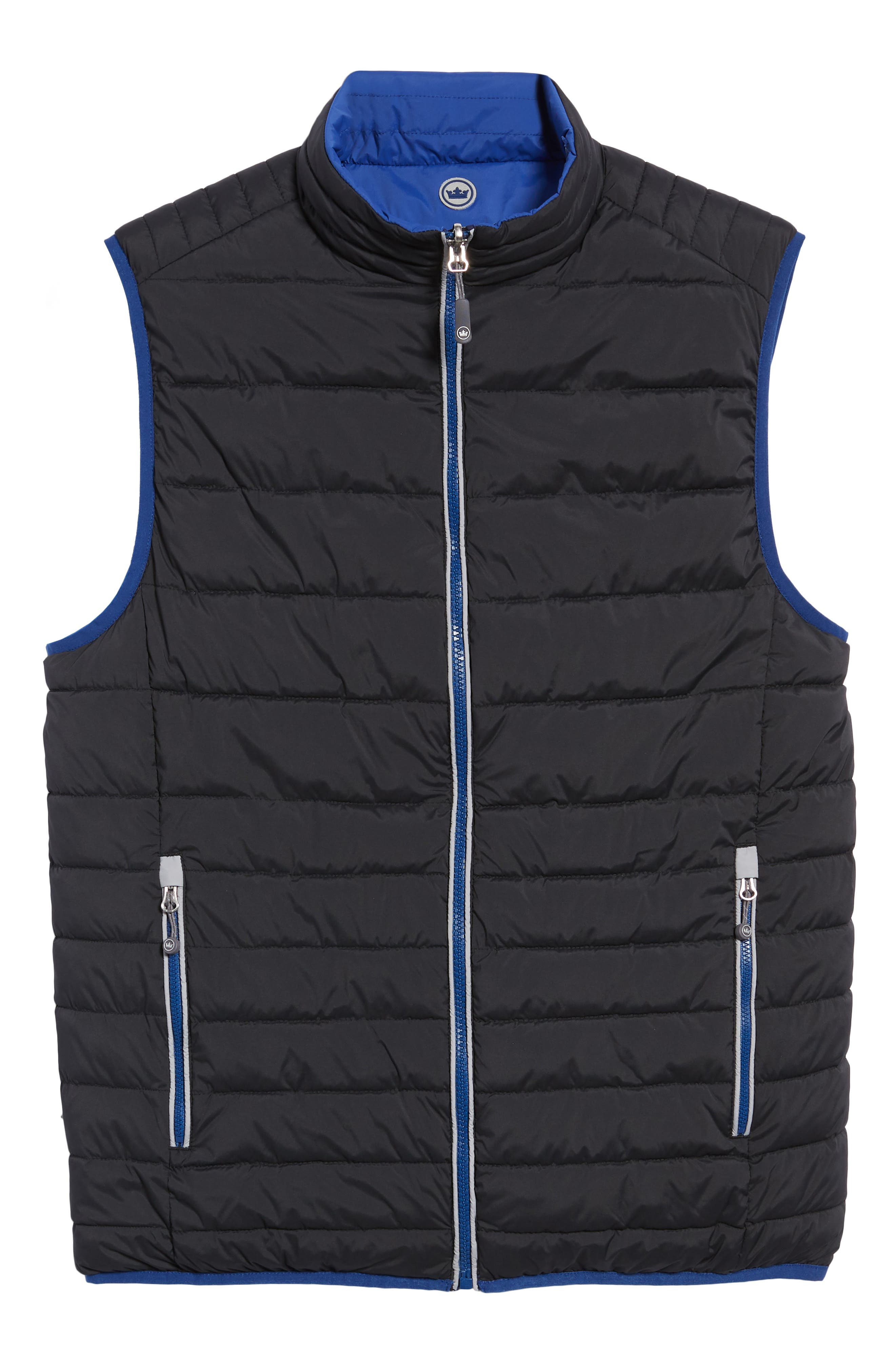 PETER MILLAR, Crown Elite Reversible Vest, Alternate thumbnail 7, color, BLACK/SAIL