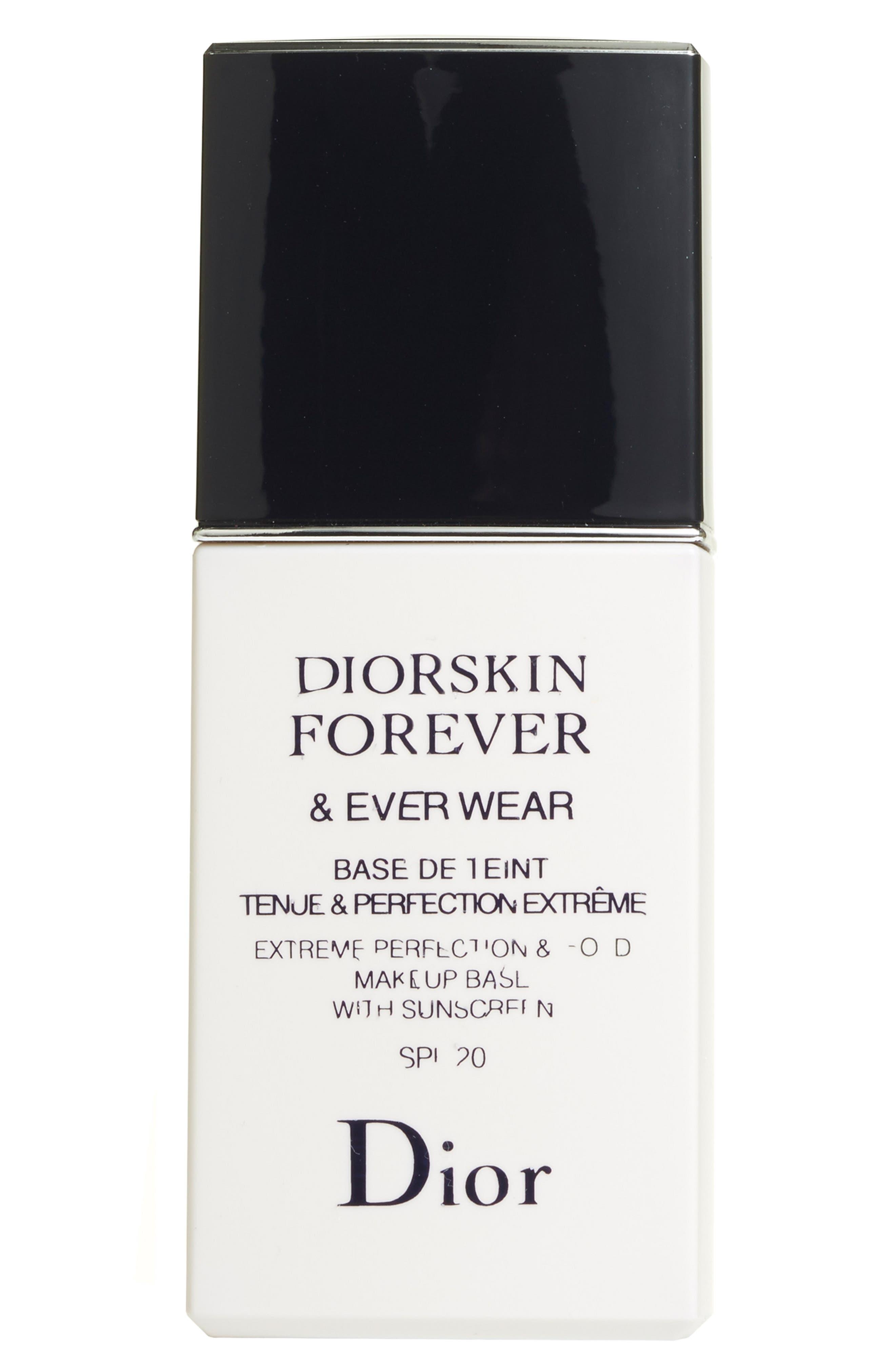 DIOR, Diorskin Forever & Ever Wear Makeup Primer SPF 20, Alternate thumbnail 3, color, NO COLOR