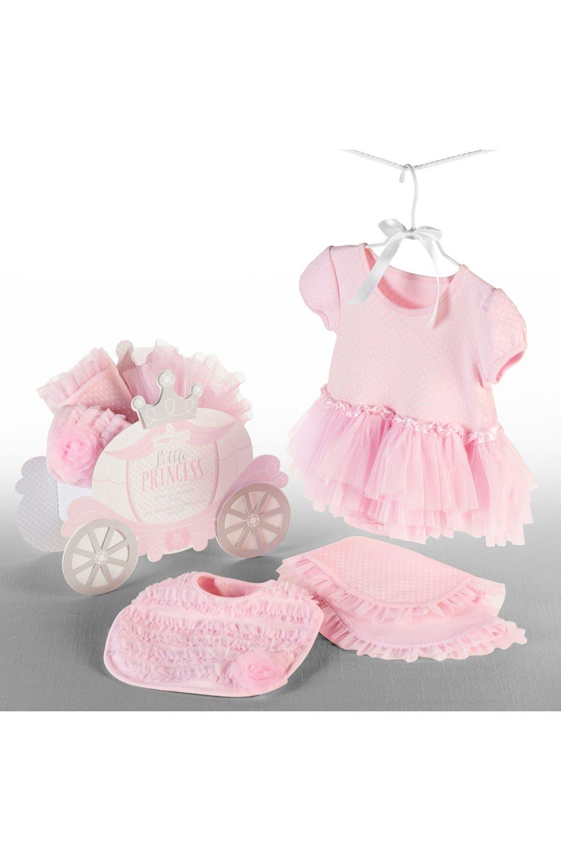BABY ASPEN, Little Princess 3-Piece Gift Set, Main thumbnail 1, color, PINK