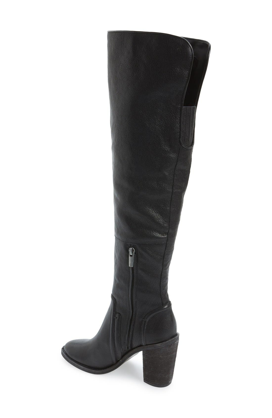VINCE CAMUTO, 'Melaya' Over the Knee Boot, Alternate thumbnail 4, color, 001