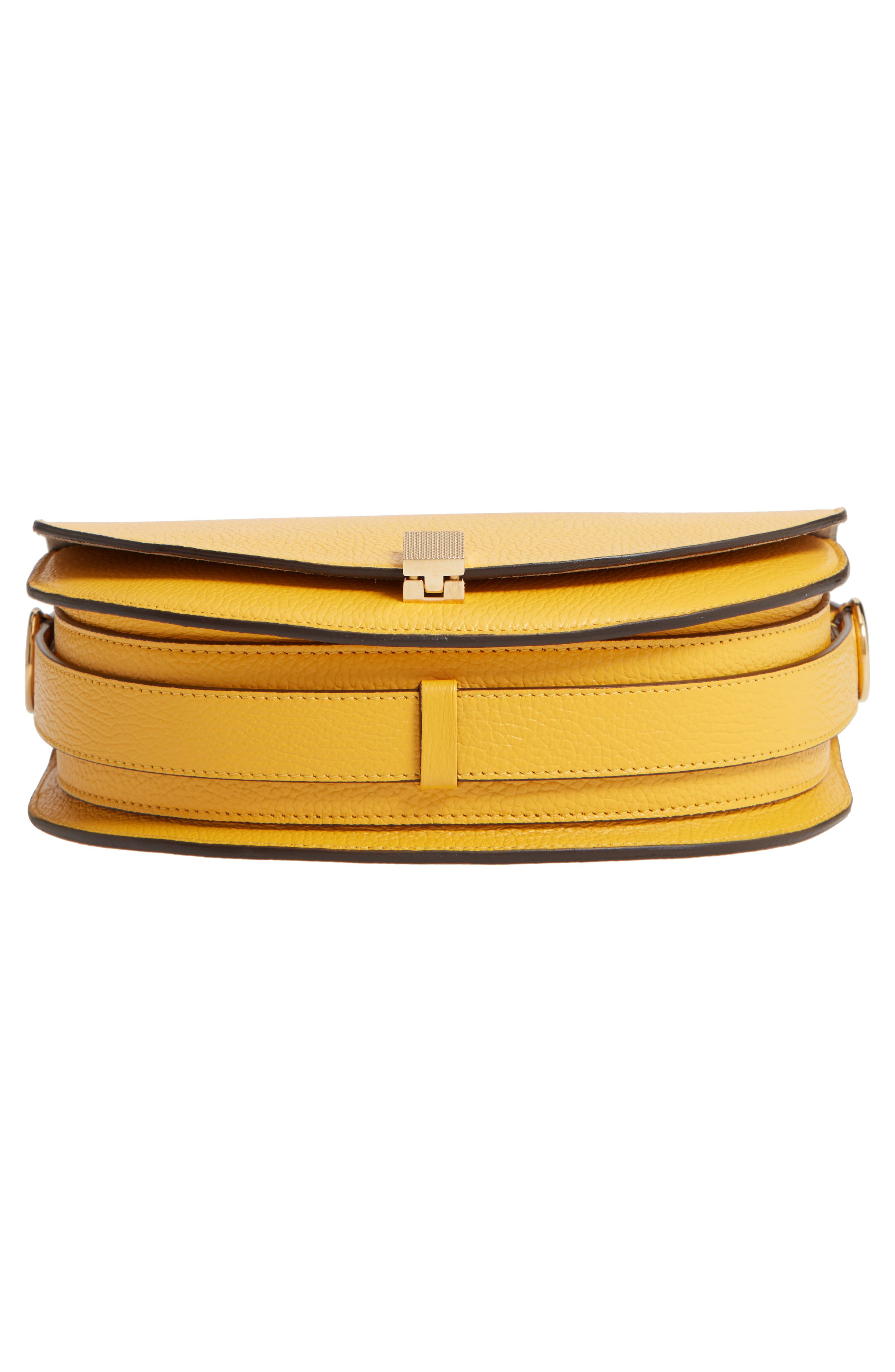 VICTORIA BECKHAM, Half Moon Box Shoulder Bag, Alternate thumbnail 6, color, YELLOW