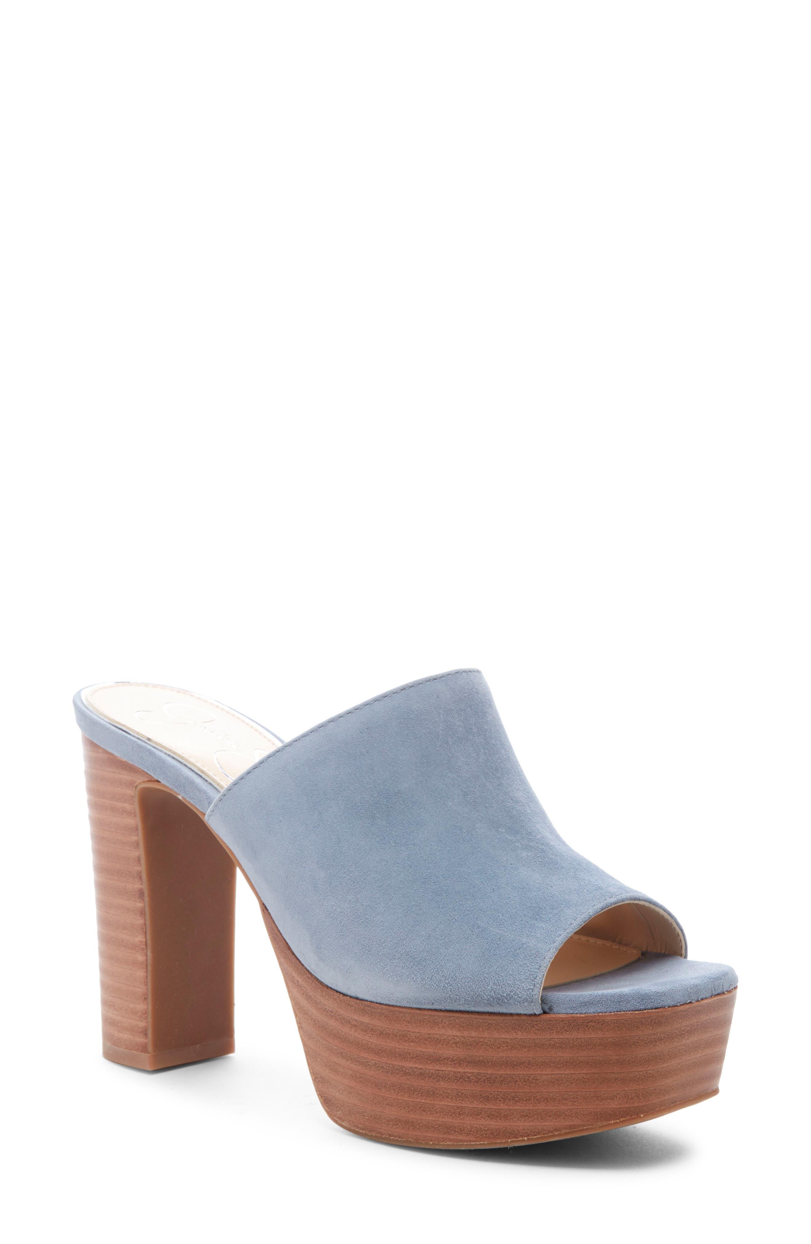 Jessica Simpson Camree Platform Sandal, Blue/green