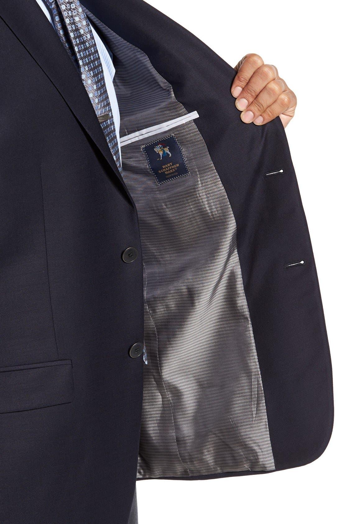 HART SCHAFFNER MARX, New York Classic Fit Wool Blend Blazer, Alternate thumbnail 8, color, NAVY