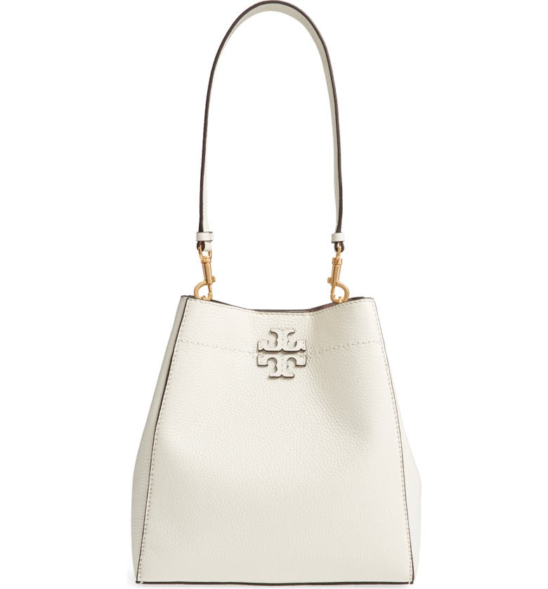 c77c192b7ad Tory Burch Mcgraw Leather Hobo - Ivory In New Ivory