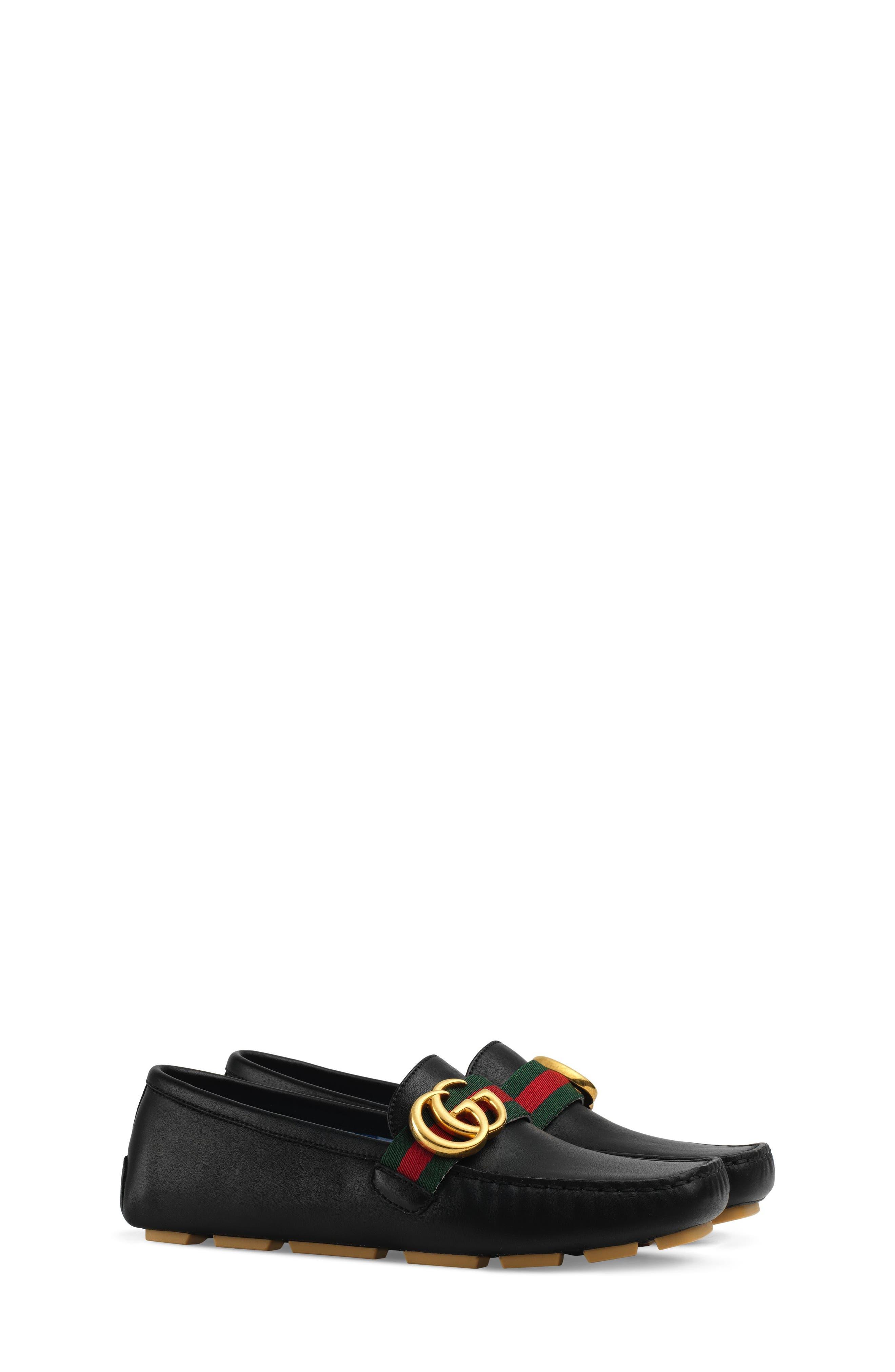 GUCCI Noel Driving Loafer, Main, color, BLACK