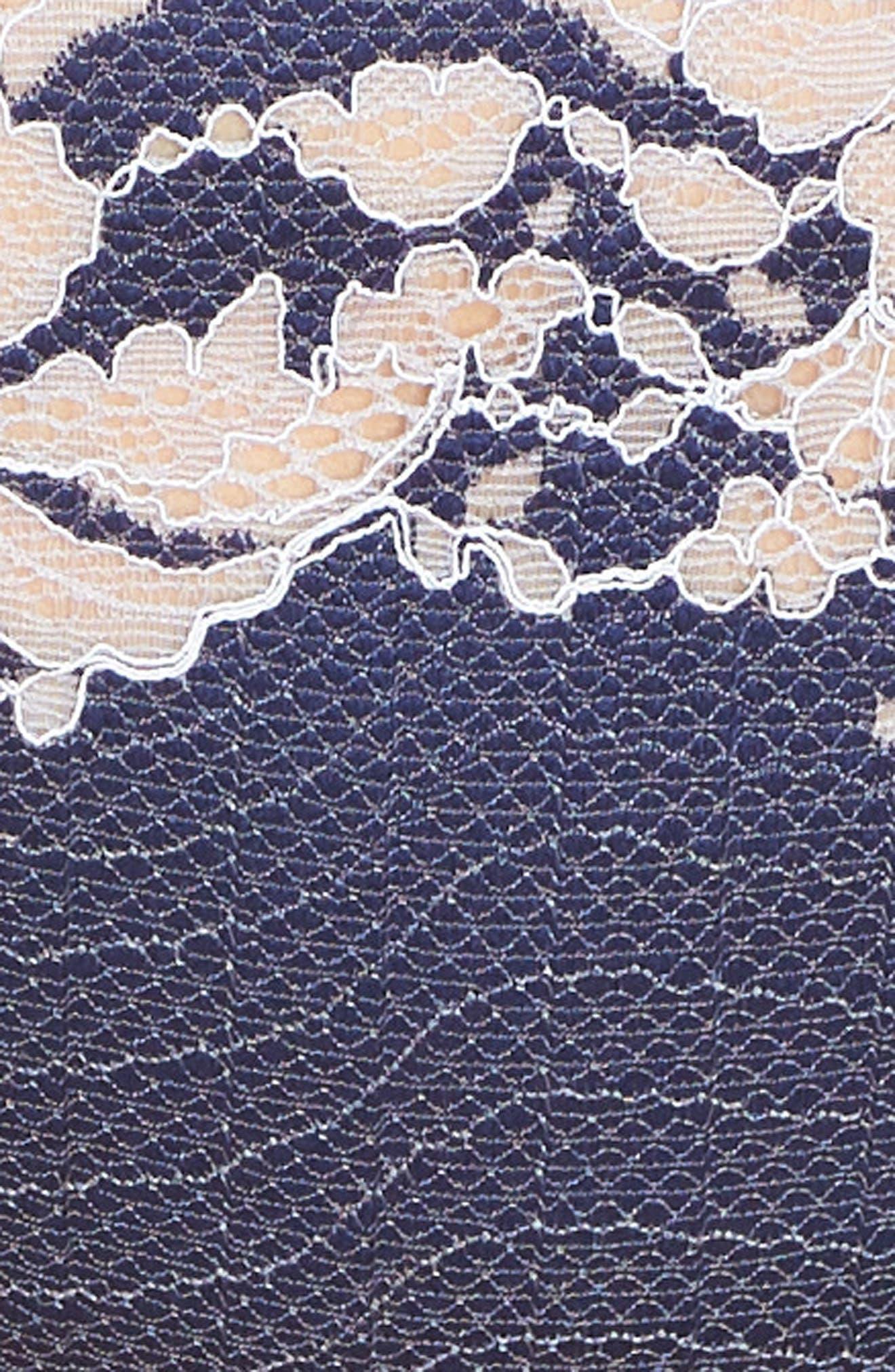 WACOAL, Lace Affair Underwire Contour Bra, Alternate thumbnail 7, color, PATRIOT BLUE/ HALOGEN BLUE