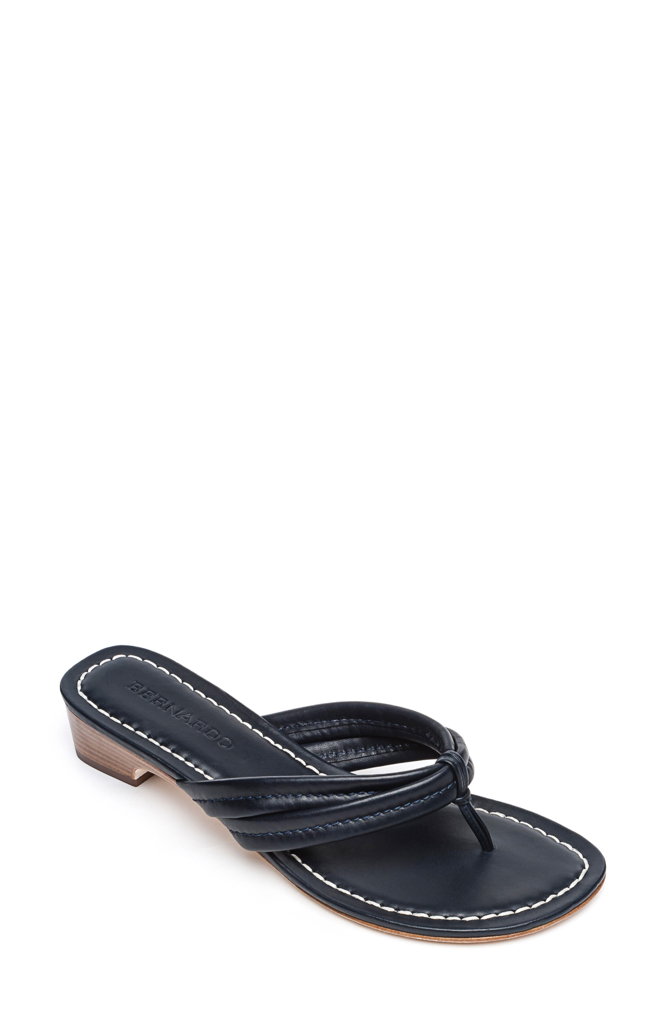 BERNARDO Miami Sandal, Main, color, BLACK ANTIQUE LEATHER