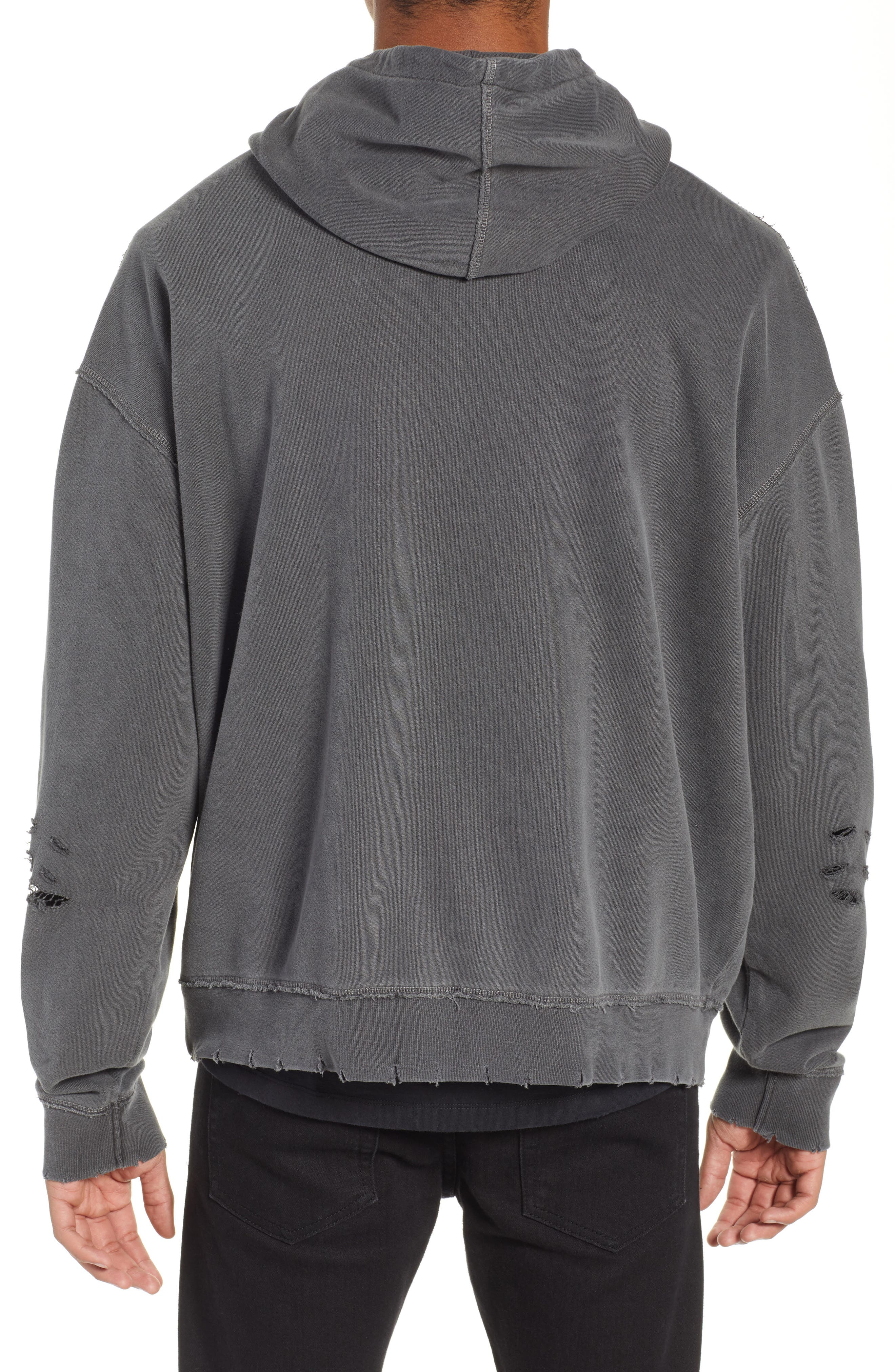 THE KOOPLES, Oversize Hoodie, Alternate thumbnail 2, color, 050