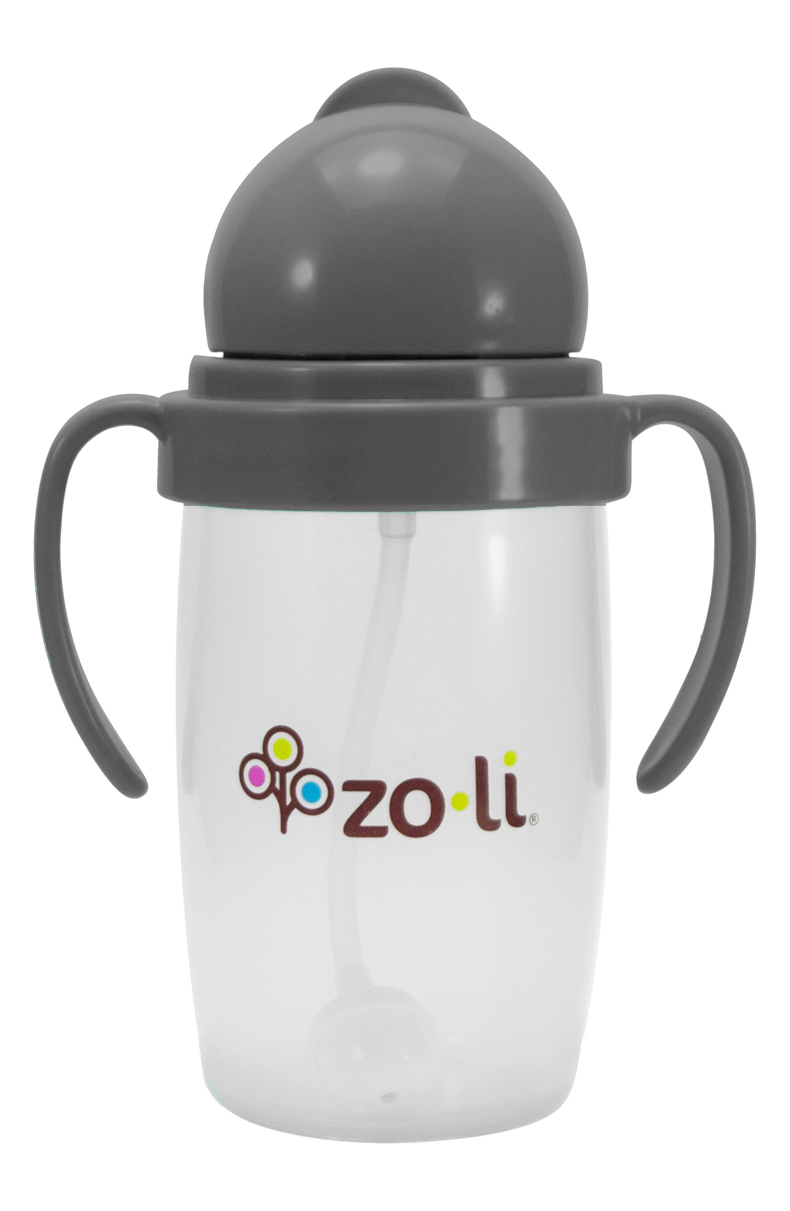 ZOLI BOT 2.0 Sippy Cup, Main, color, GREY